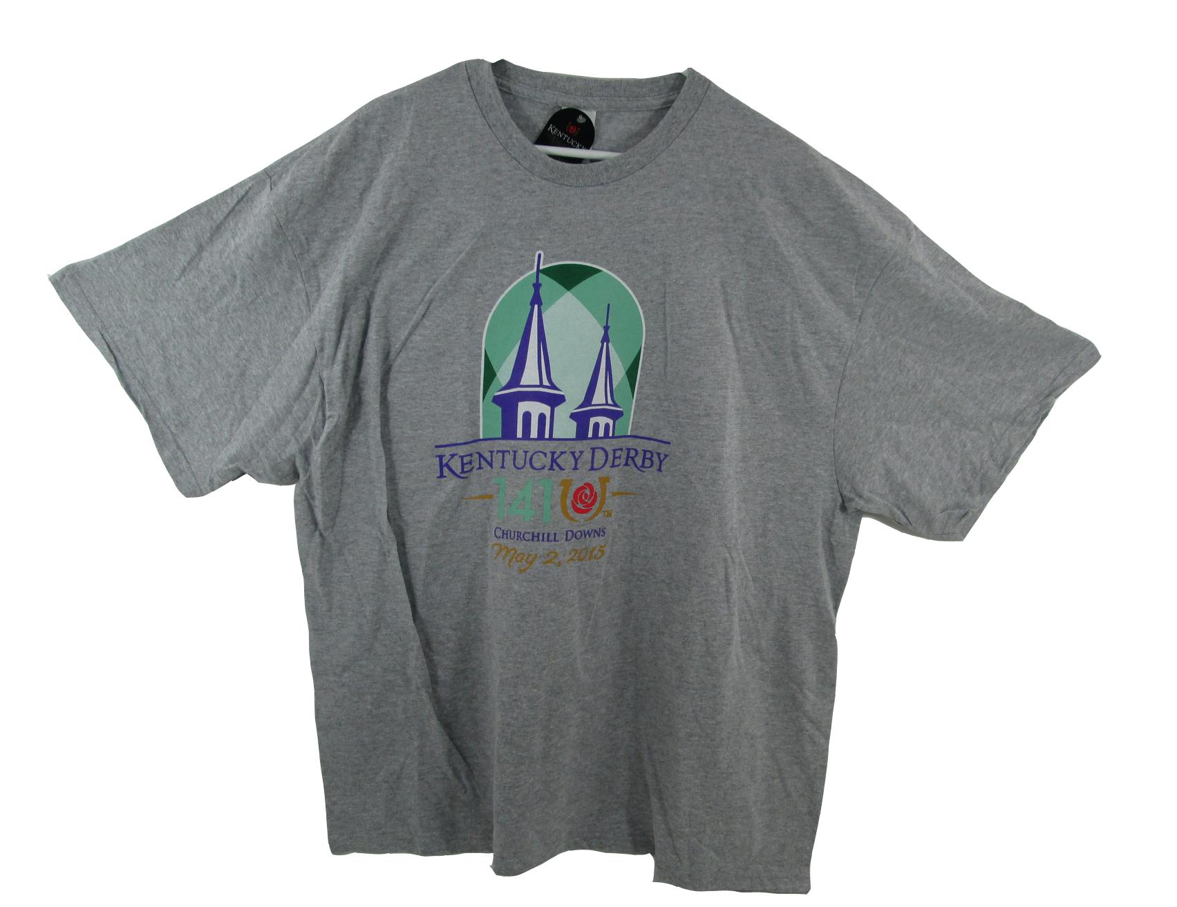 Official Kentucky Derby 141 Green Logo T-Shirt May 2 2015 American Pharoah