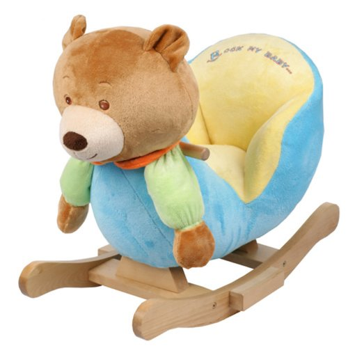 Superbe Plush Bear Baby Rocking Chair Kids Toy Ride Rocker Plush Toddler