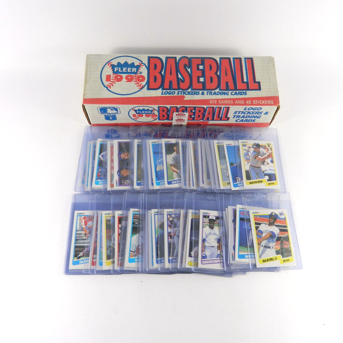 1990 Fleer Baseball Complete Set Key Cards In Card Savers