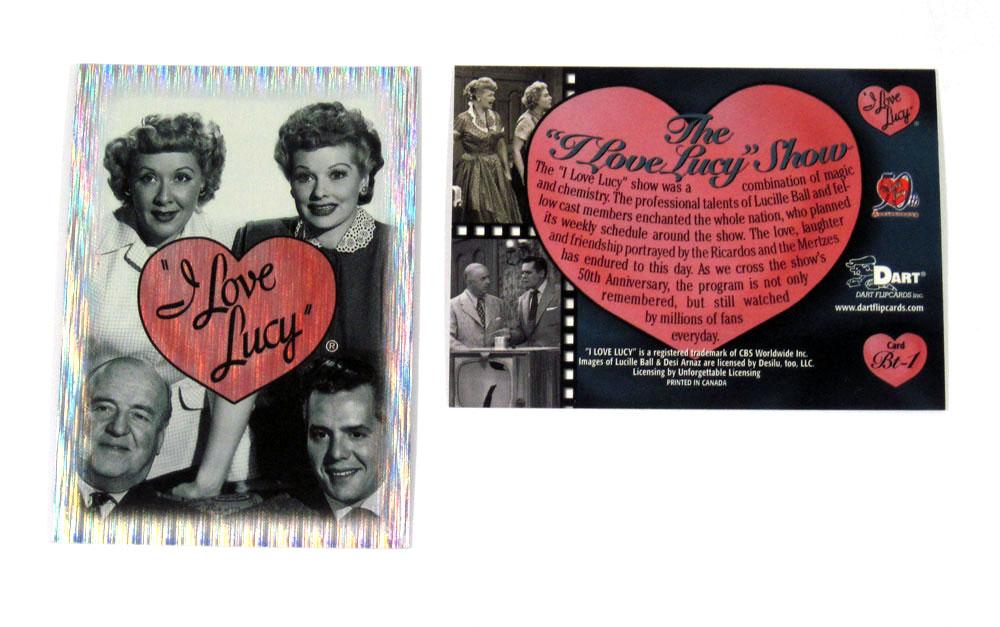 I LOVE LUCY 50TH ANNIVERSARY 2001 DART BOX TOPPER INSERT CARD BT-1