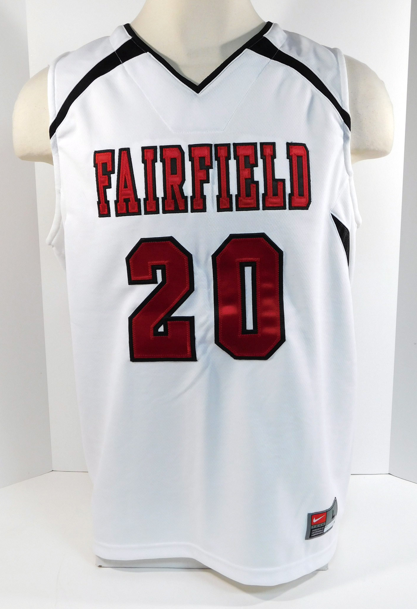 meet a4c73 f43ea Fairfield University Stags #20 Game Used Women's Basketball ...
