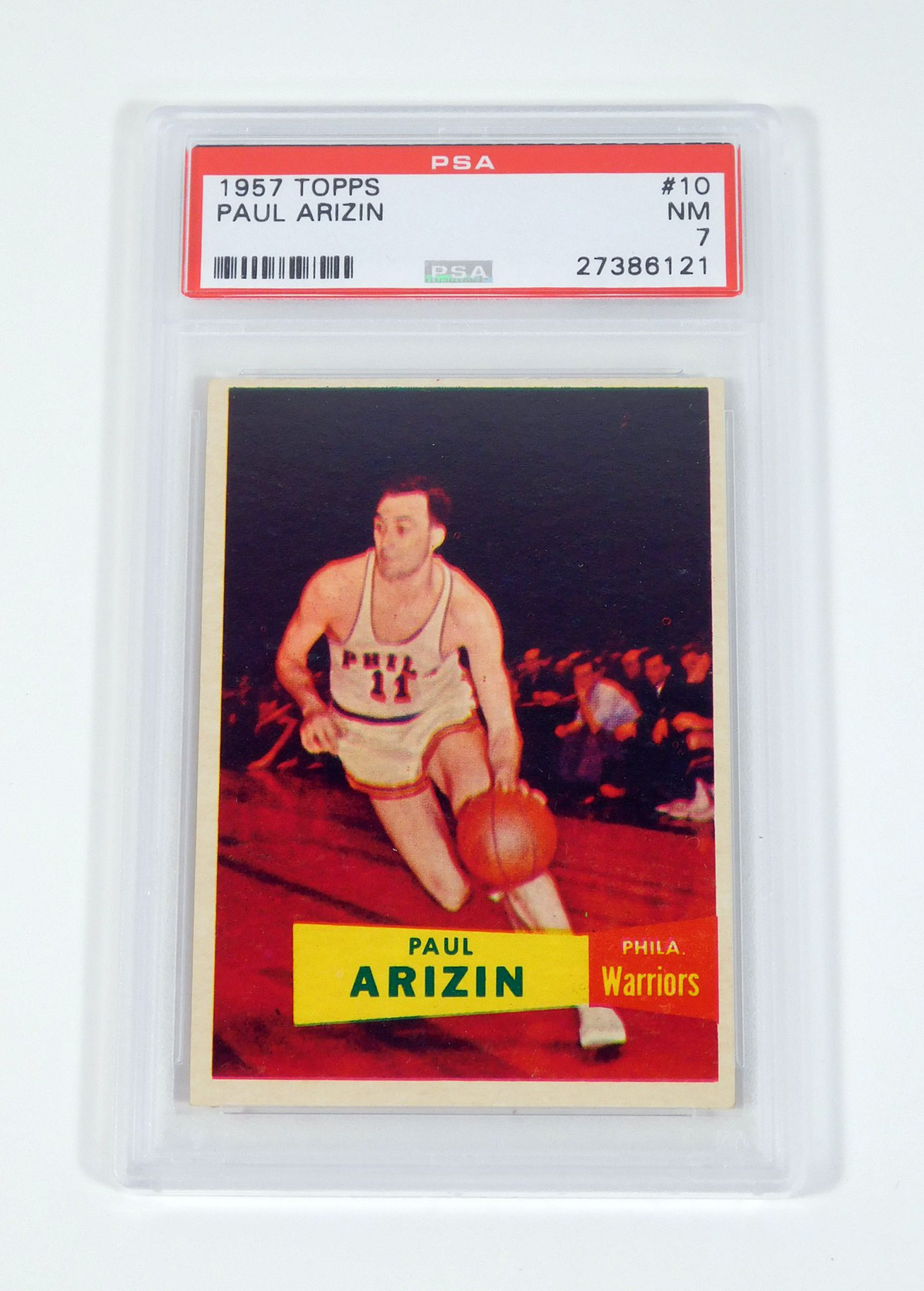 1957 58 Topps Paul Arizin 10 Warriors PSA 7