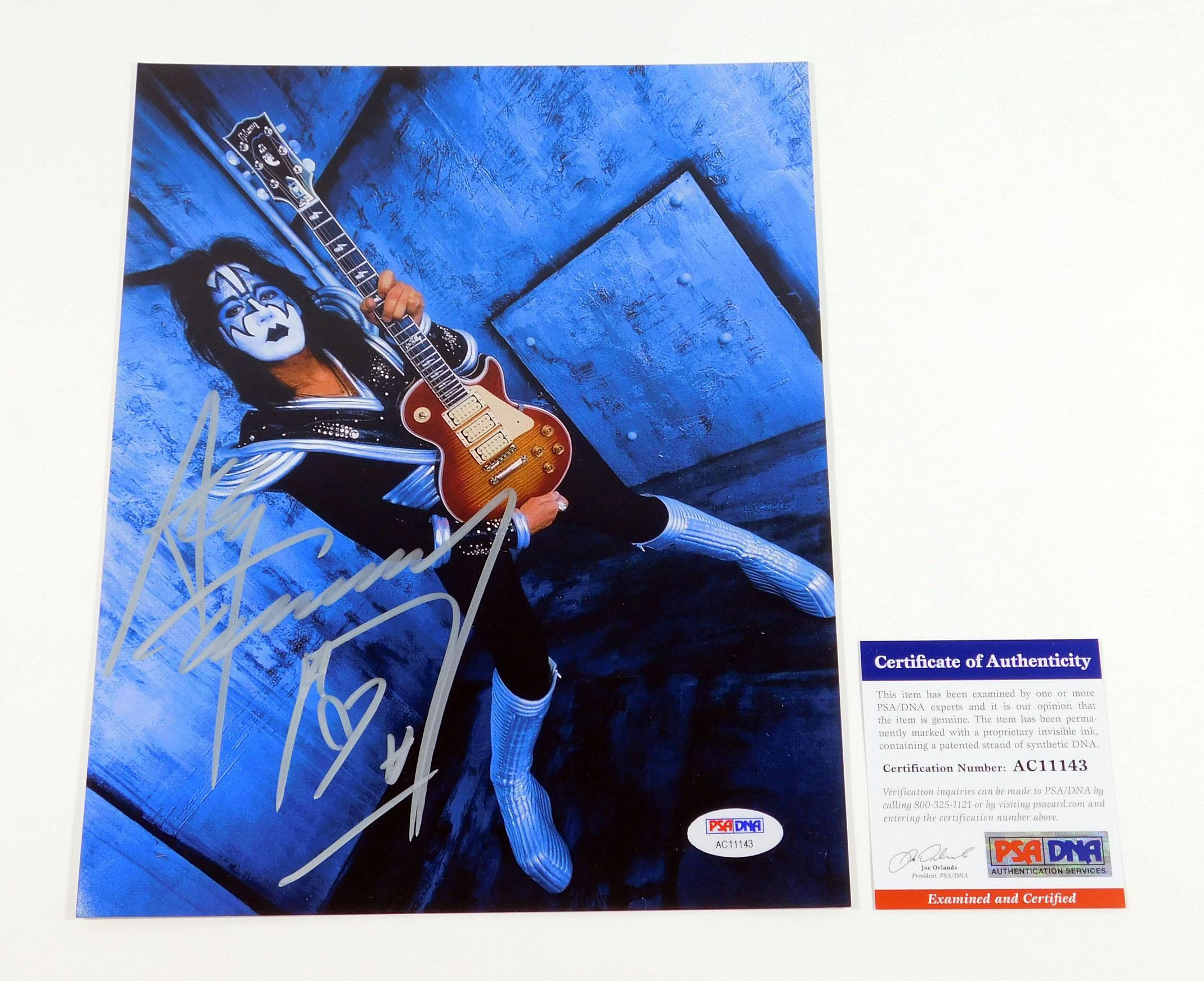 Ace Frehley Signed 8 X 10 Color Photo Kiss Psadna Auto Ebay
