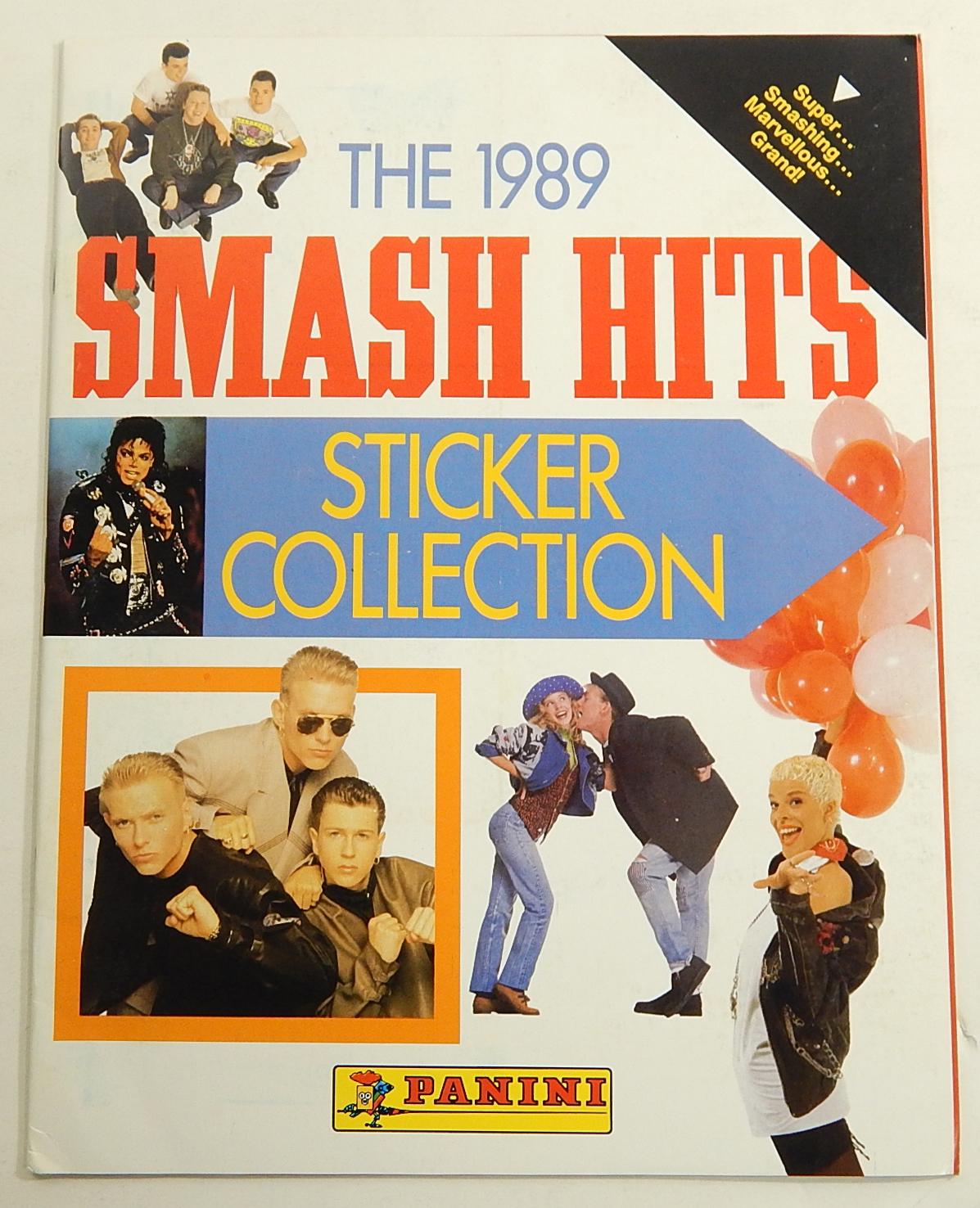 1989 smash hits sticker collection unused sticker album panini michael jackson ebay. Black Bedroom Furniture Sets. Home Design Ideas
