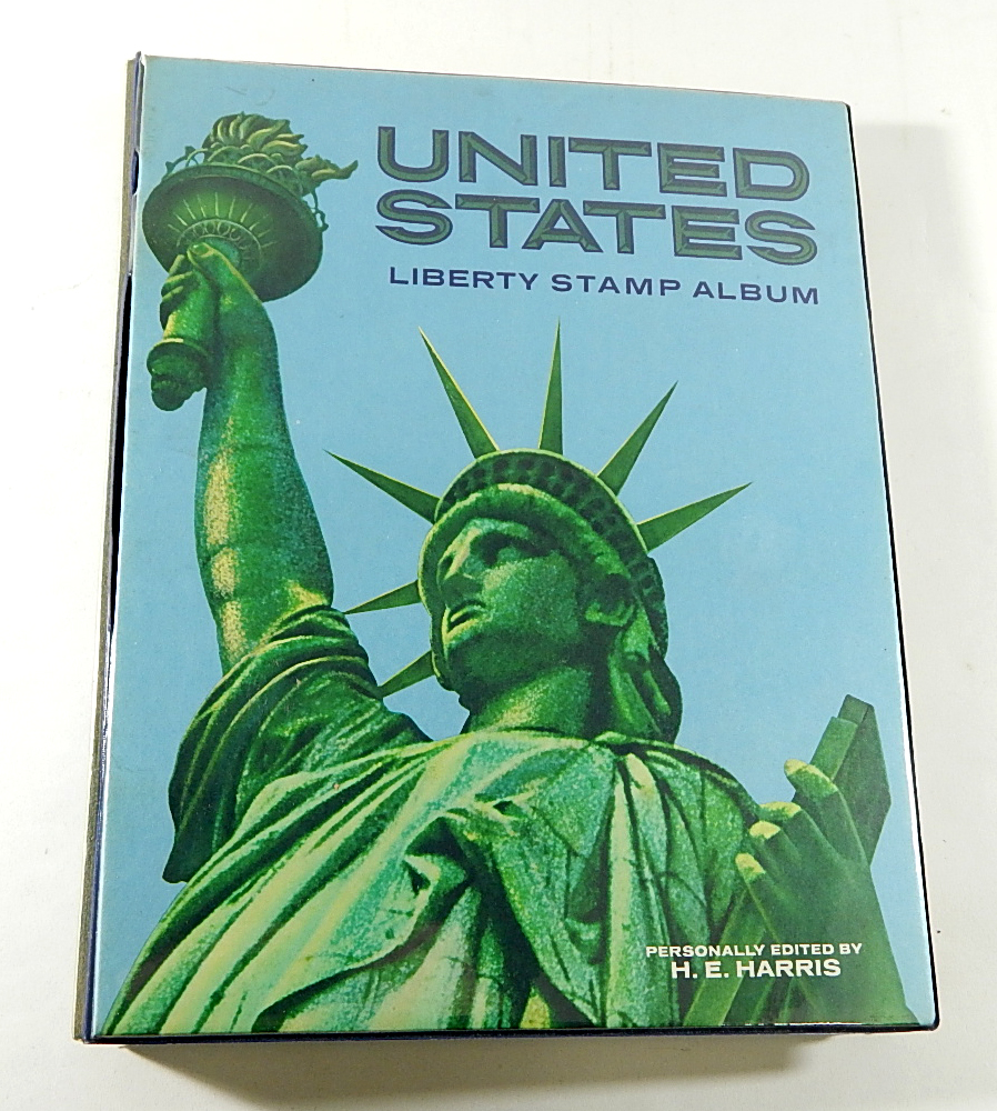 1973 Harris United States Liberty Stamp Album With 409 Us Postage