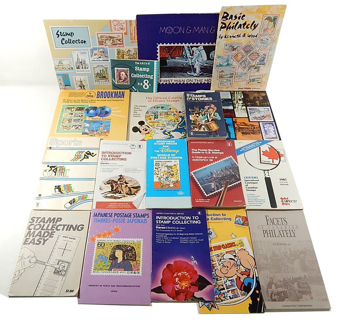 Postal Stamp Collecting Reference Book Lot ^ Price Guides Books Catalogue  Disney