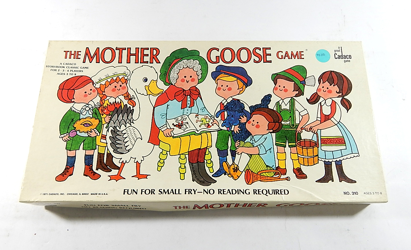 1971 The Mother Goose Game Vintage Cadaco Board Game In