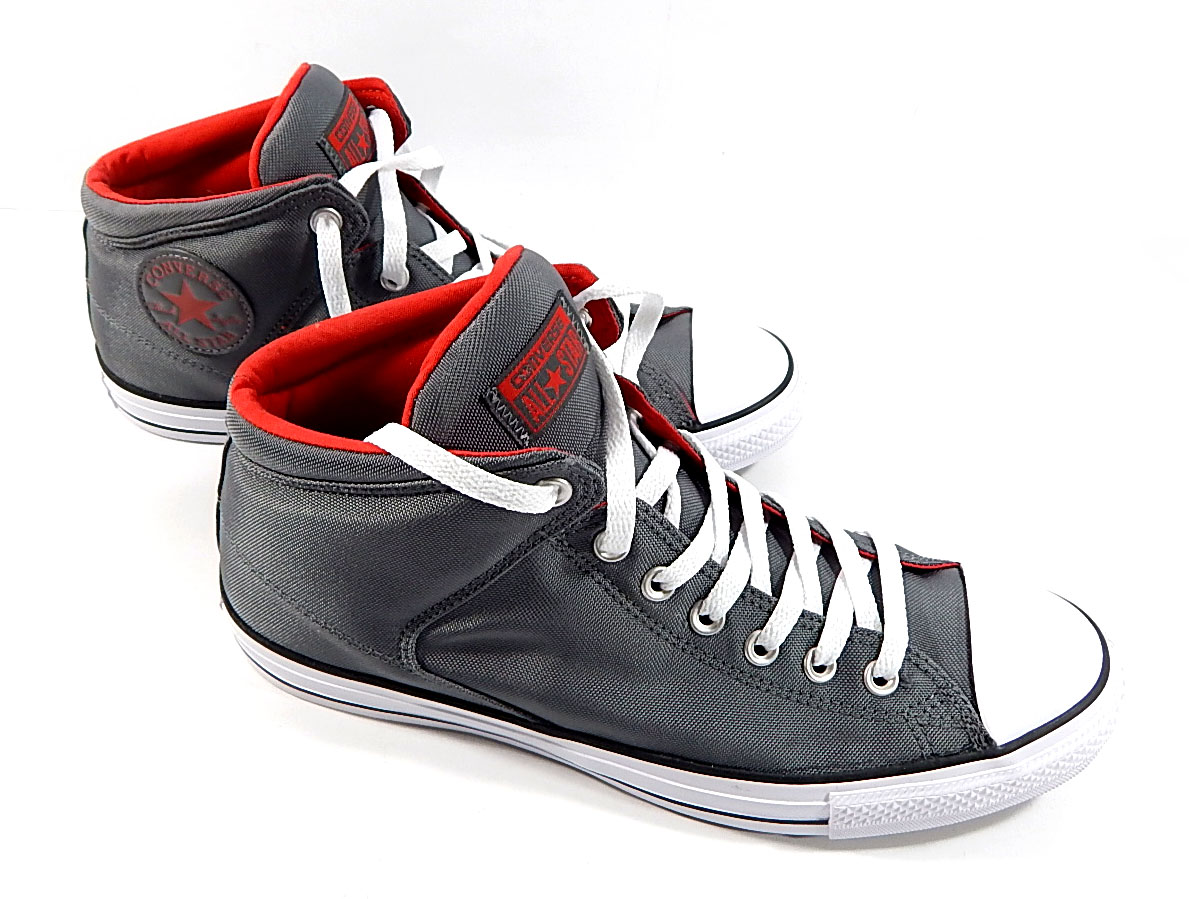 72ecf130d29c Converse All Star Mens High Street Shoes Gray Red White Size 11 No ...