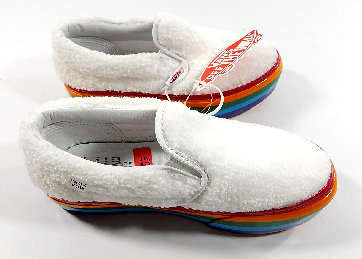 Vans Classic Slip-On Fuzzy Kids Shoes