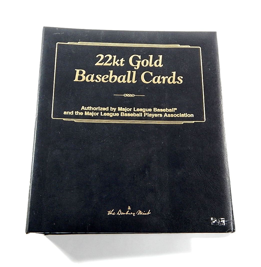 1996 The Danbury Mint Baseball Card 22kt Gold Complete Set Binder Album Babe Ruth Lou Gehrig