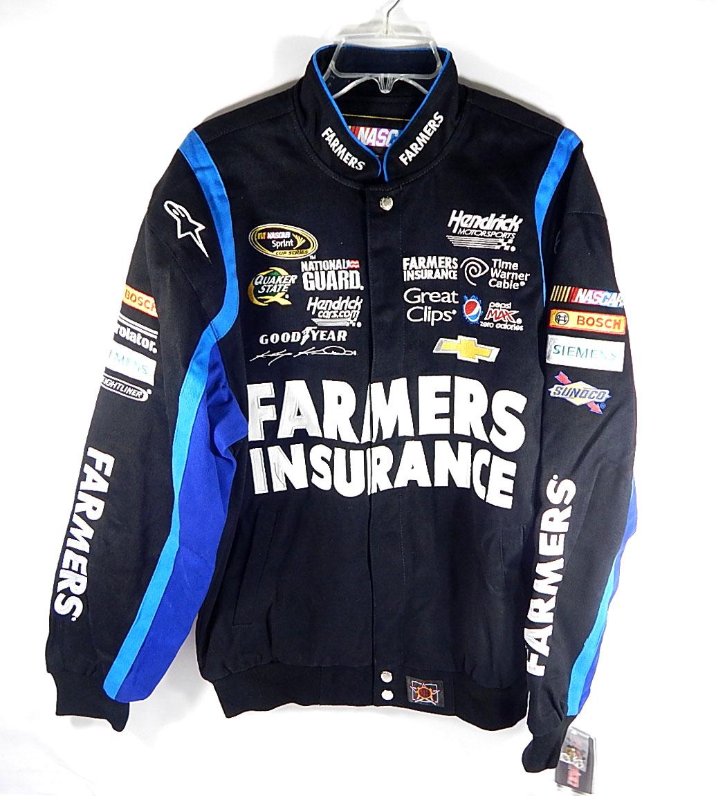 Farmers Insurance 5 Kasey Kahne Official Nascar Racing Jacket Jh Design M Nwt Ebay