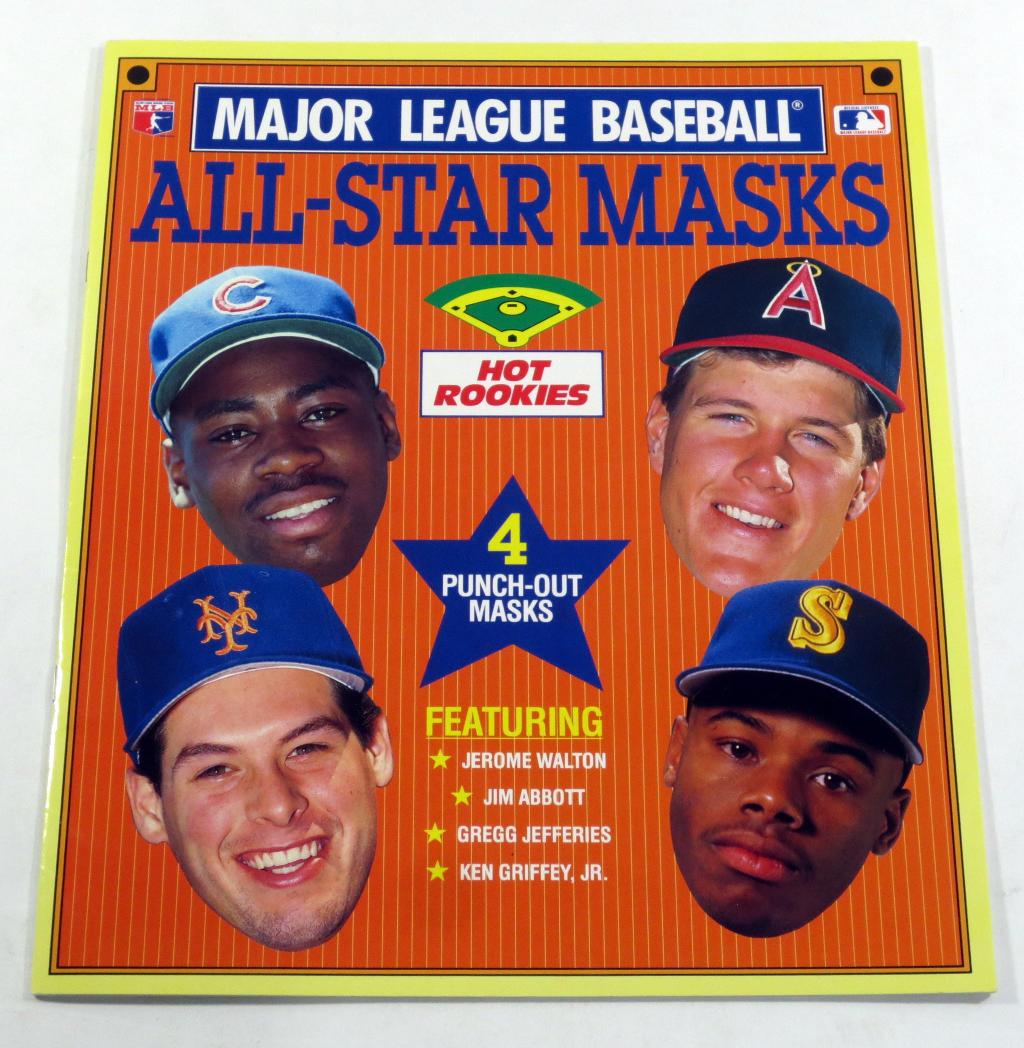 1990 Major League Baseball All-Star Masks Hot Rookies Book