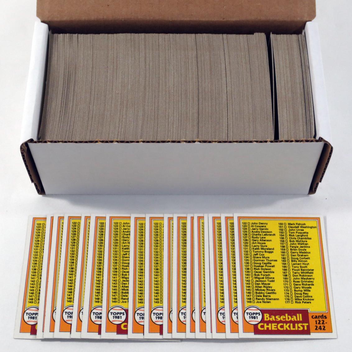 400 1981 Topps Checklist #241 ^ Nm//Mt to Mint ^ Vending Quality ^ BV $100