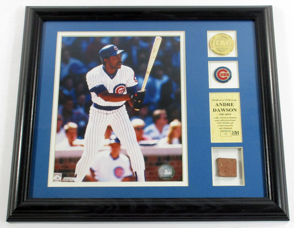 Details about Andre Dawson Framed Display 1987 MVP Photo Coin Brick Pin  Highland Mint DF024947 2fb5fa81b
