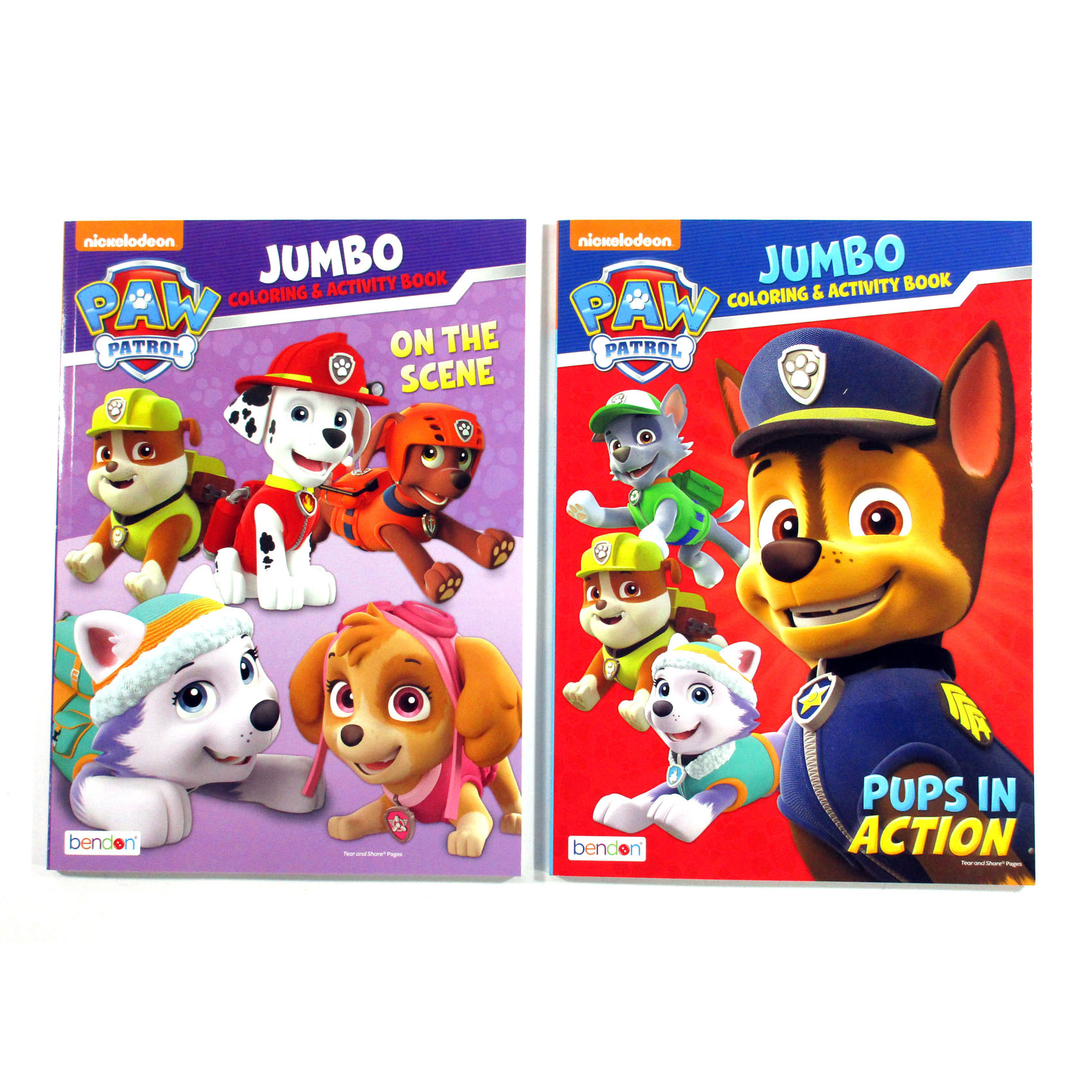 Details About Lot Of 2 Different Nickelodeon Paw Patrol Jumbo Coloring Activity Books New