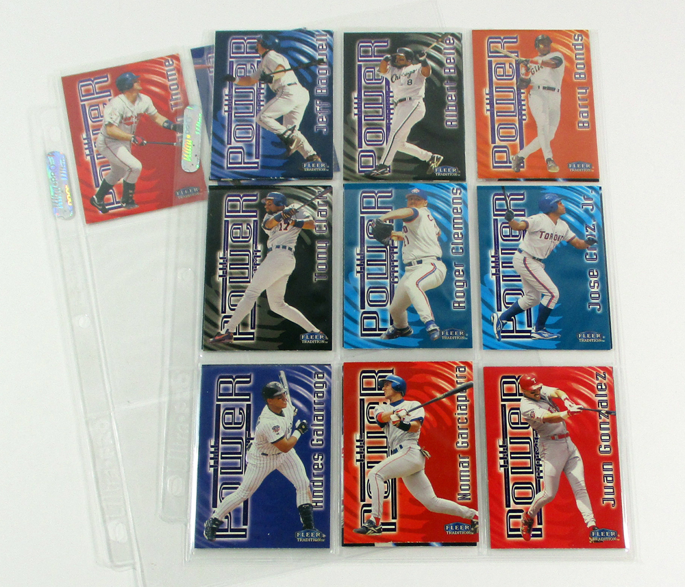 1998 Fleer Tradition Power Game Baseball Set In Binder