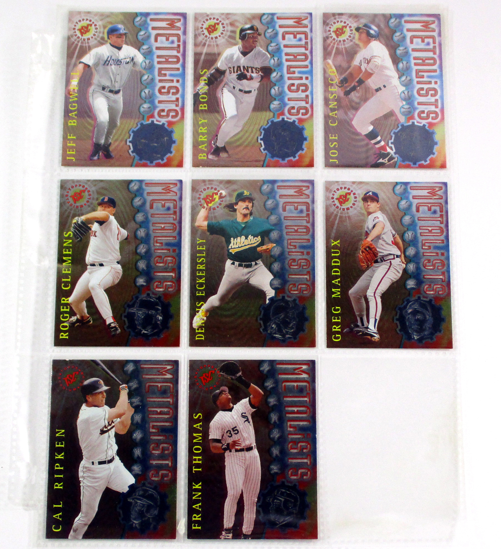 1996 Stadium Club Metalists Baseball Insert Set In Binder