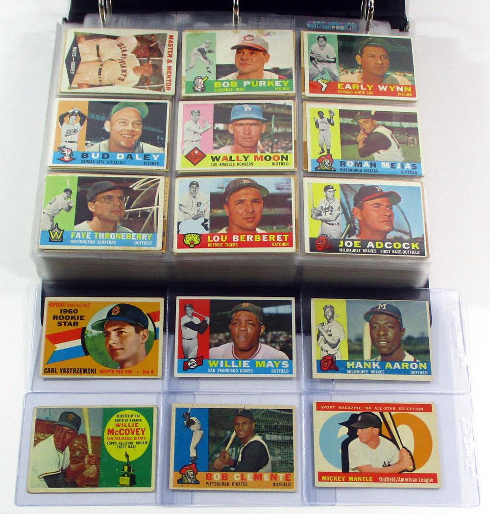 1960 Topps Baseball Near Set (569/572) Mantle AS