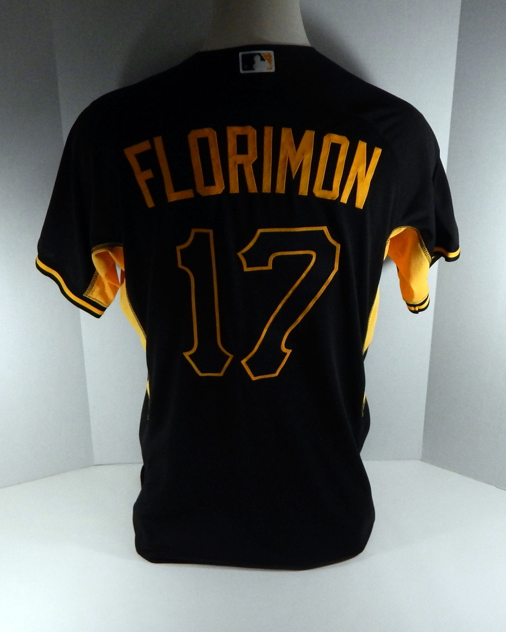 70350cd9d 2016 Pittsburgh Pirates Pedro Florimon  17 Game Issued Batting Practice  Jersey