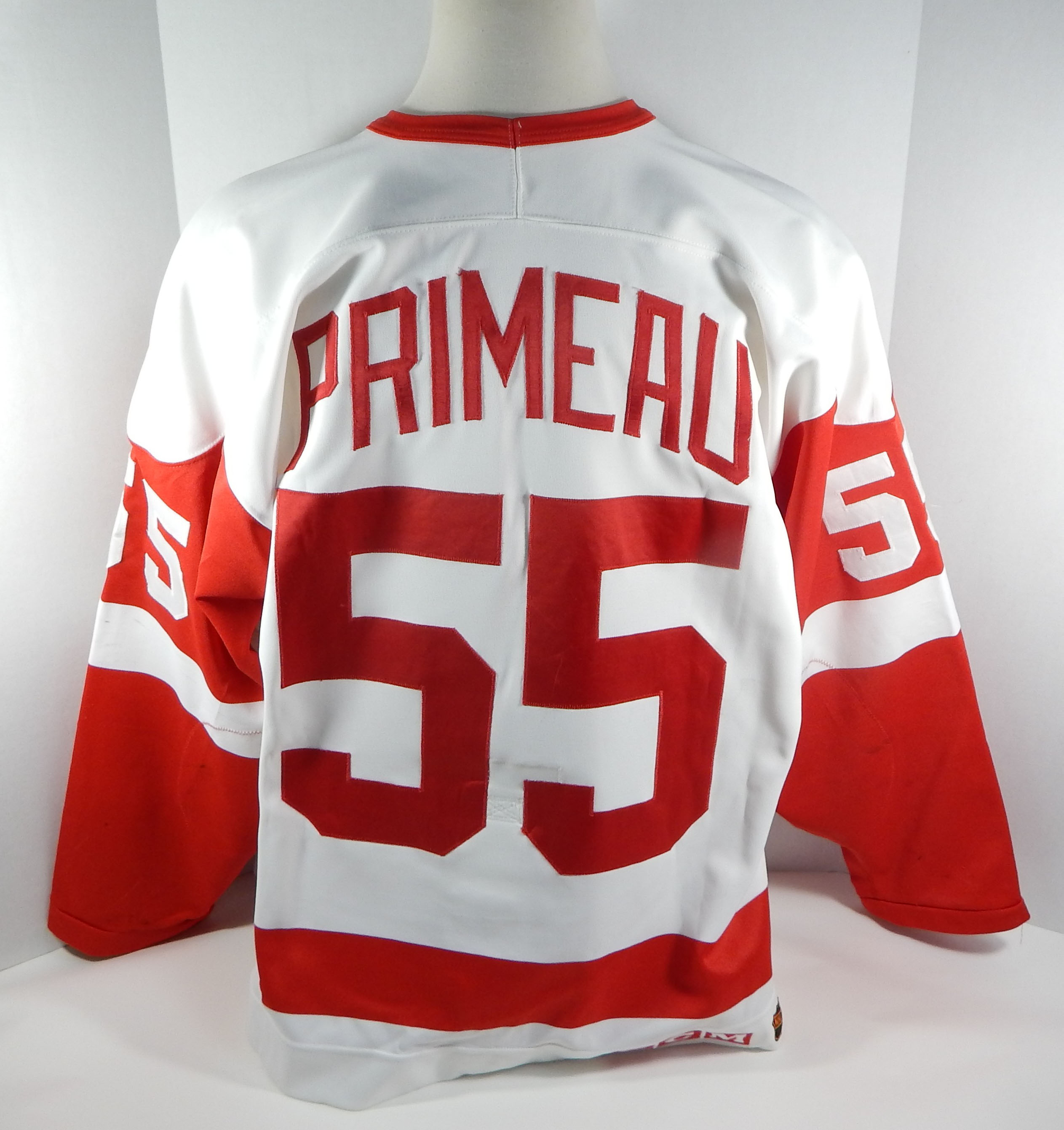 1994-95-Detroit-Red-Wings-Keith-Primeau-55-Game-Used-White-Jersey