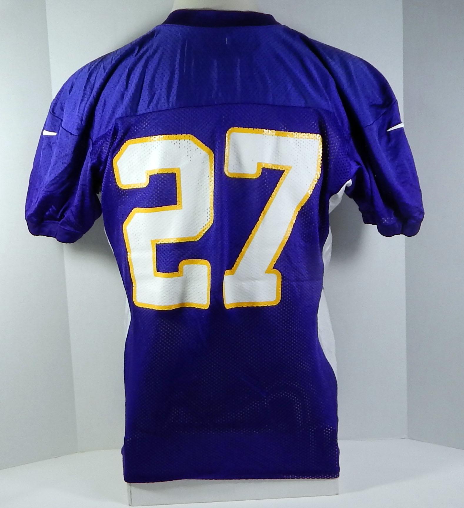 2012 Minnesota Vikings Brandon Burton #27 Game Issued Purple ...
