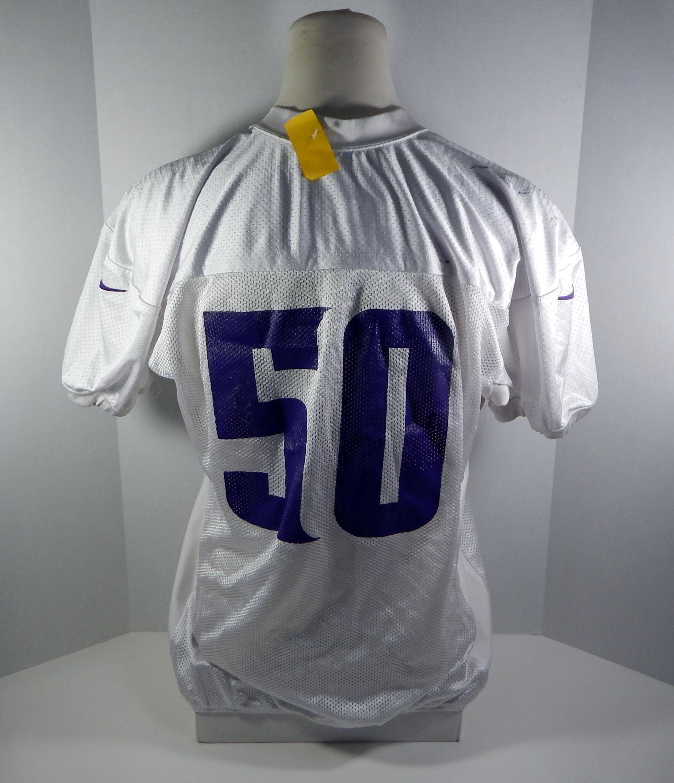 2013 Minnesota Vikings Erin Henderson #50 Game Issued White Practice