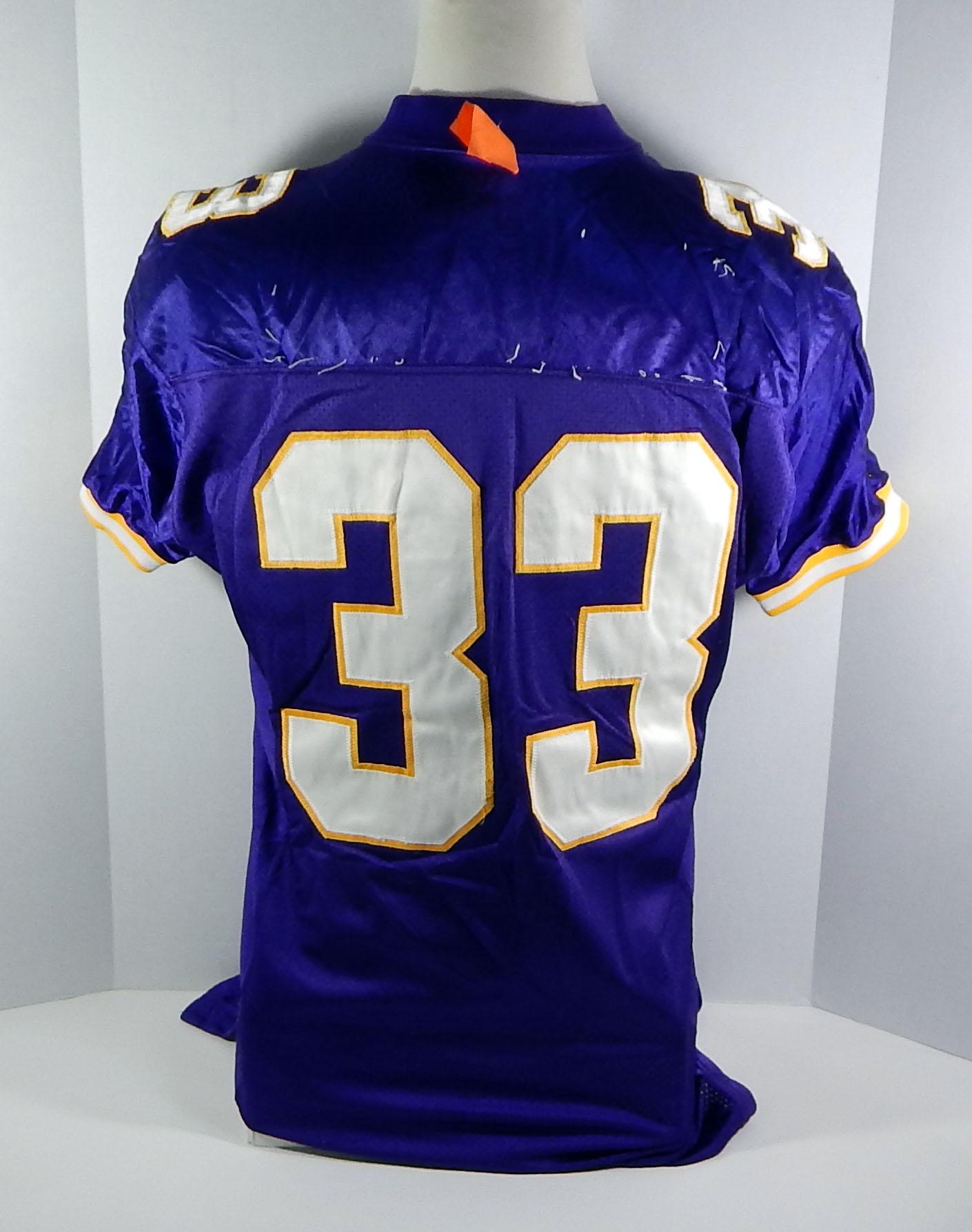 660f3d07 1997 Minnesota Vikings #33 Game Issued Purple Jersey   eBay