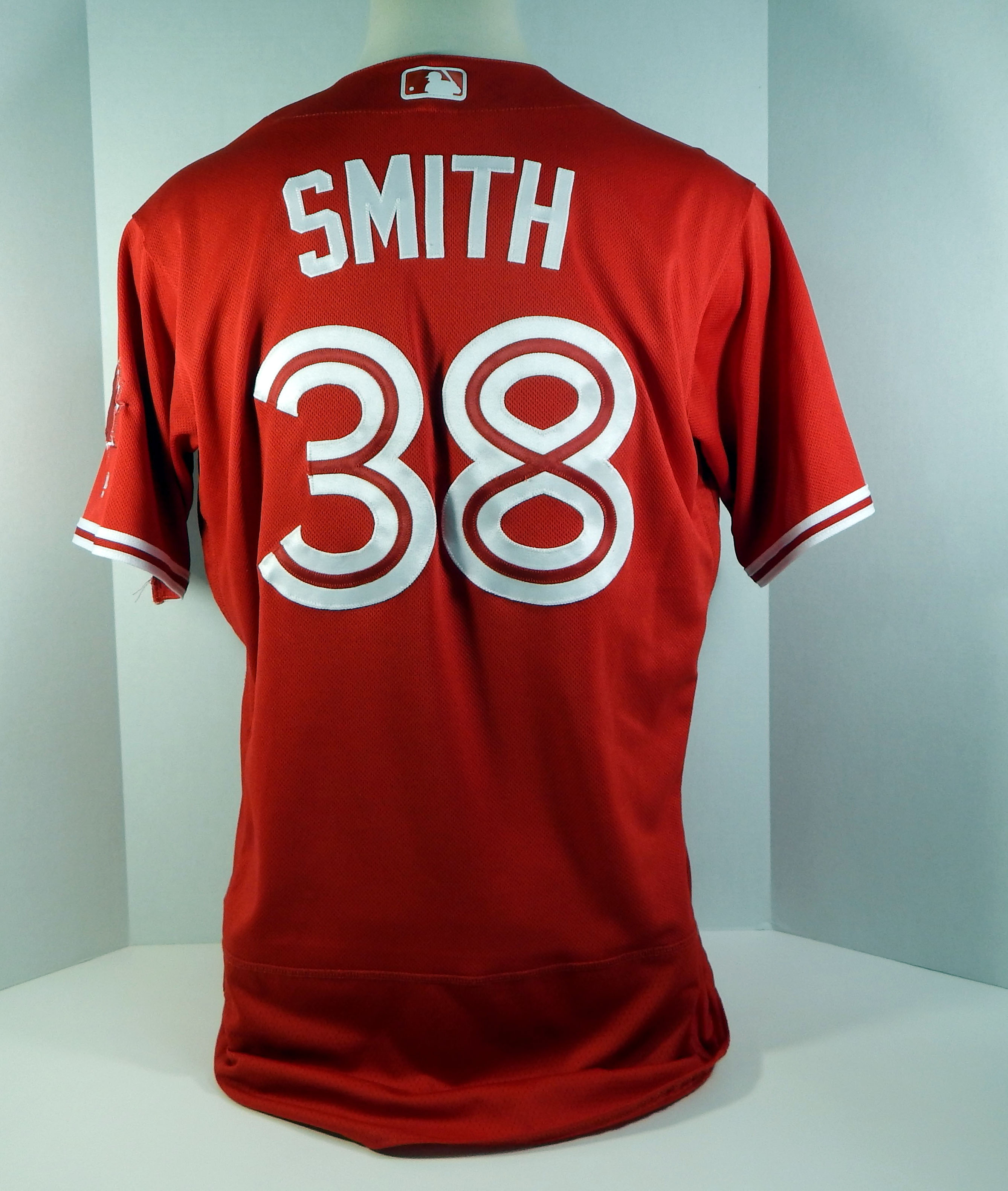 1bfa659c4 2017 Toronto Blue Jays Joe Smith  38 Game Used Red Canada Day Jersey ...