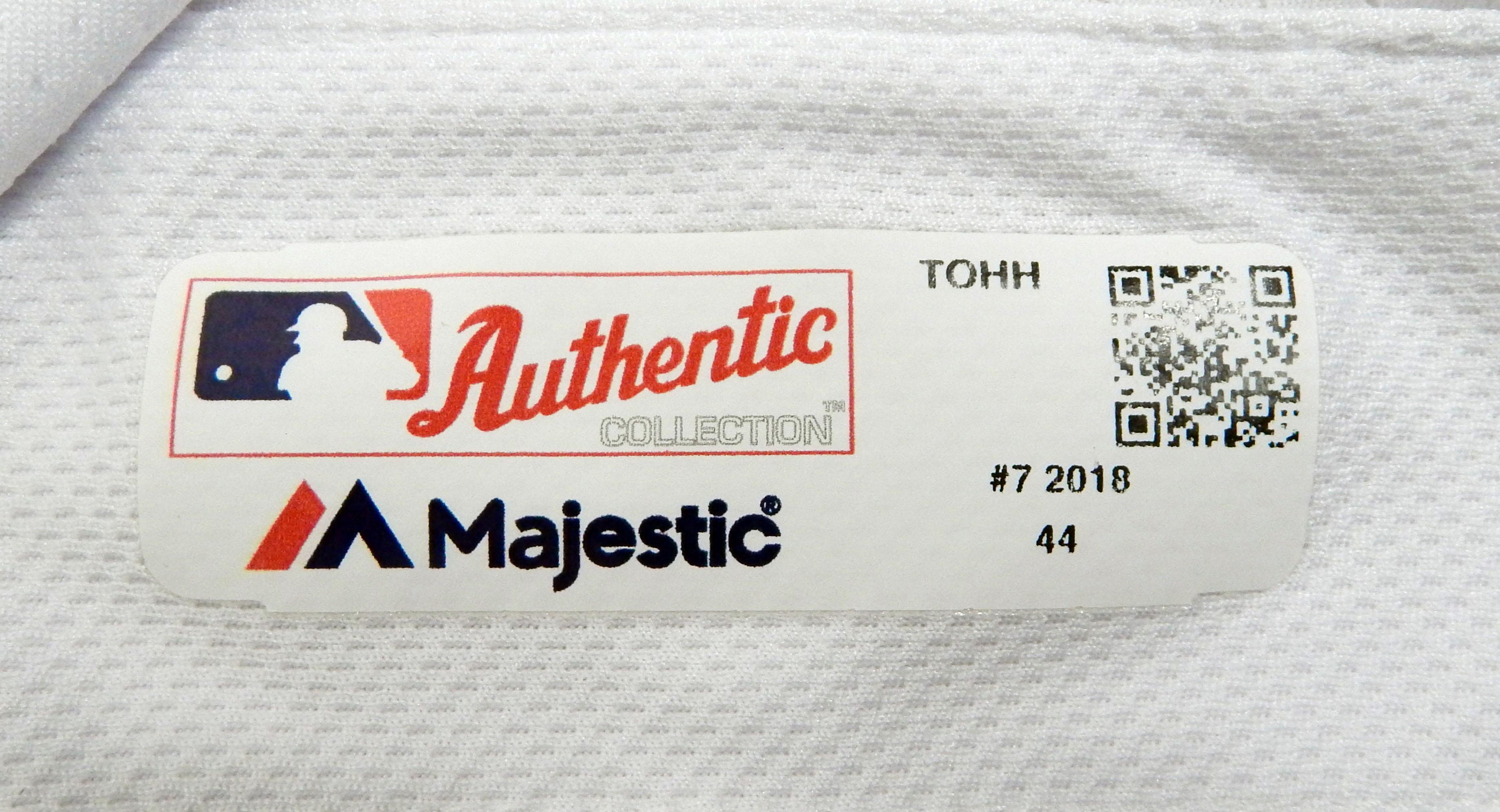 9890034fb 2018 Toronto Blue Jays Richard Urena  7 Game Used White Jersey 32 ...