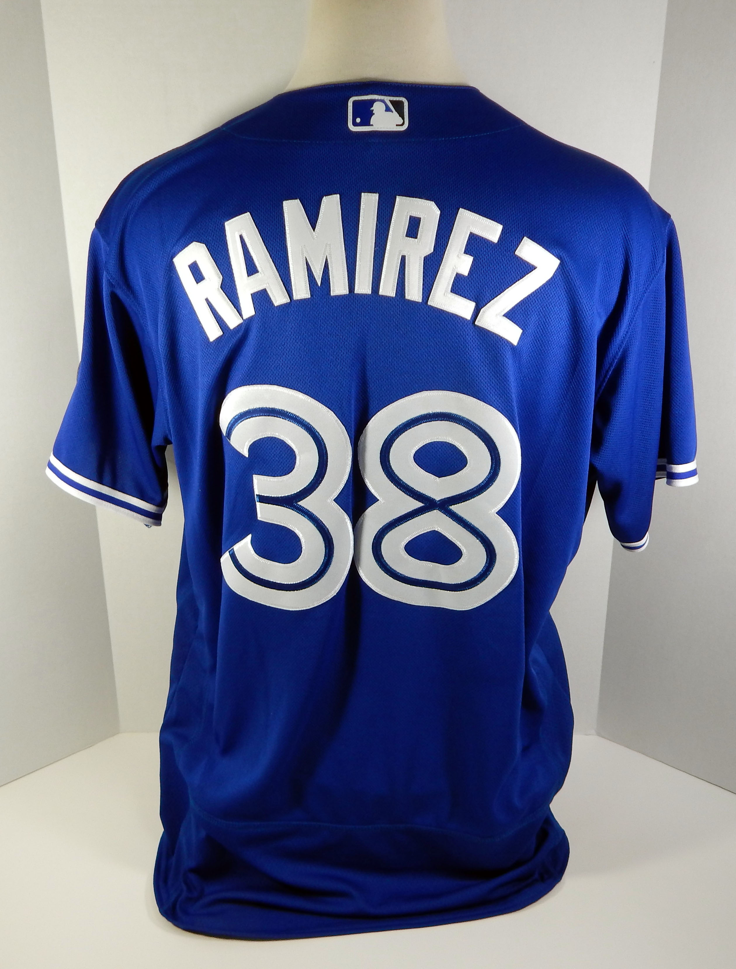 4d673f3b37f 2018 Toronto Blue Jays Carlos Ramirez  38 Game Issued Blue Jersey 32 ...