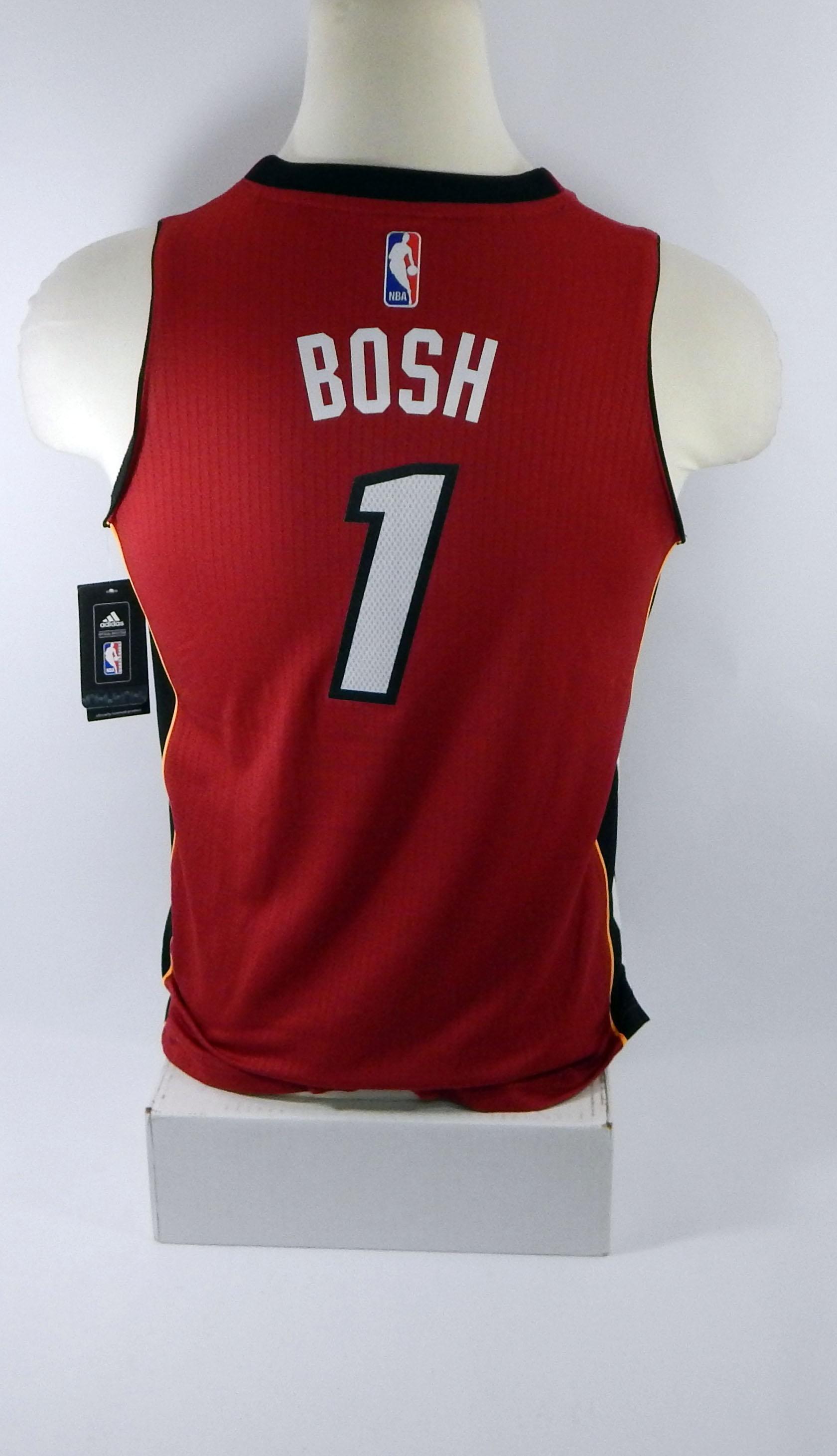 7574b374020 ... new style miami heat chris bosh 1 replica red swingman jersey d0358  847ca