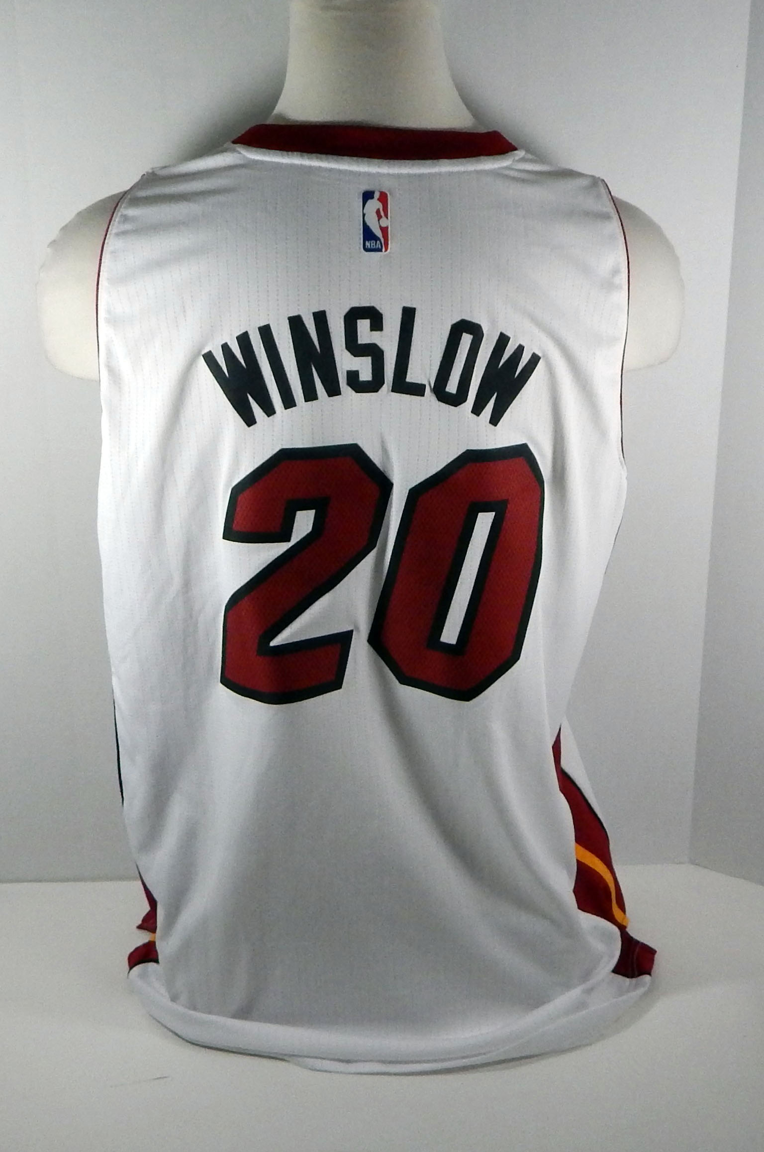 best authentic 66425 513e9 Details about Miami Heat Justise Winslow #20 Replica White Swingman Jersey  HEAT0063