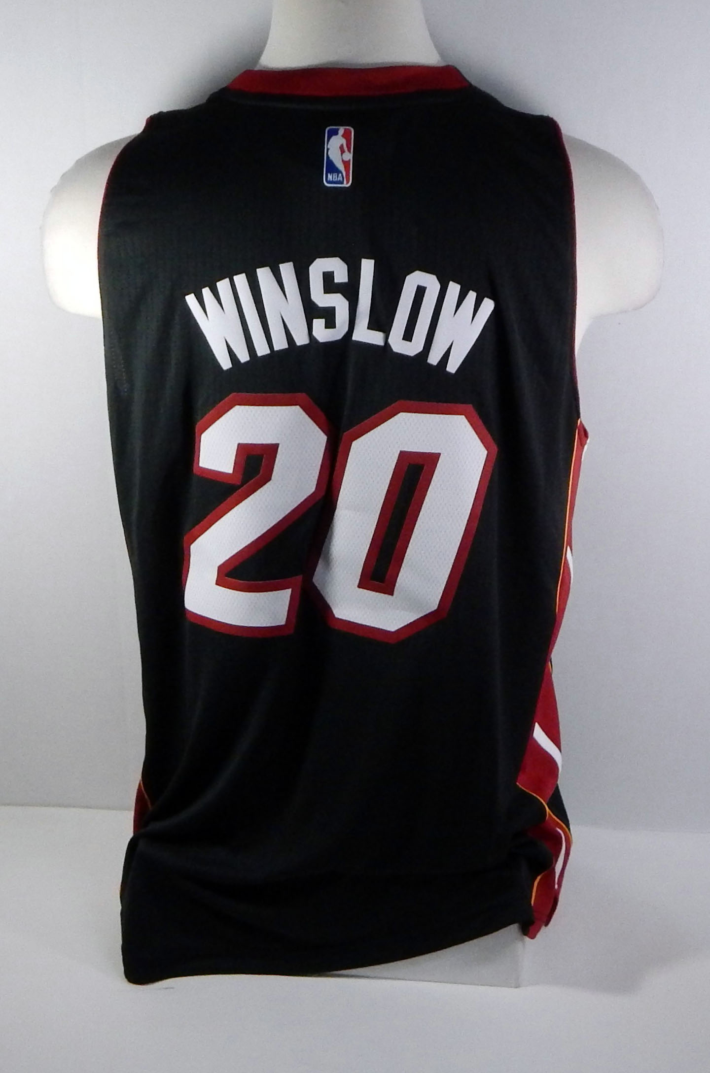 buy popular d1d63 cb99c Miami Heat Justise Winslow #20 Replica Black Swingman Jersey ...