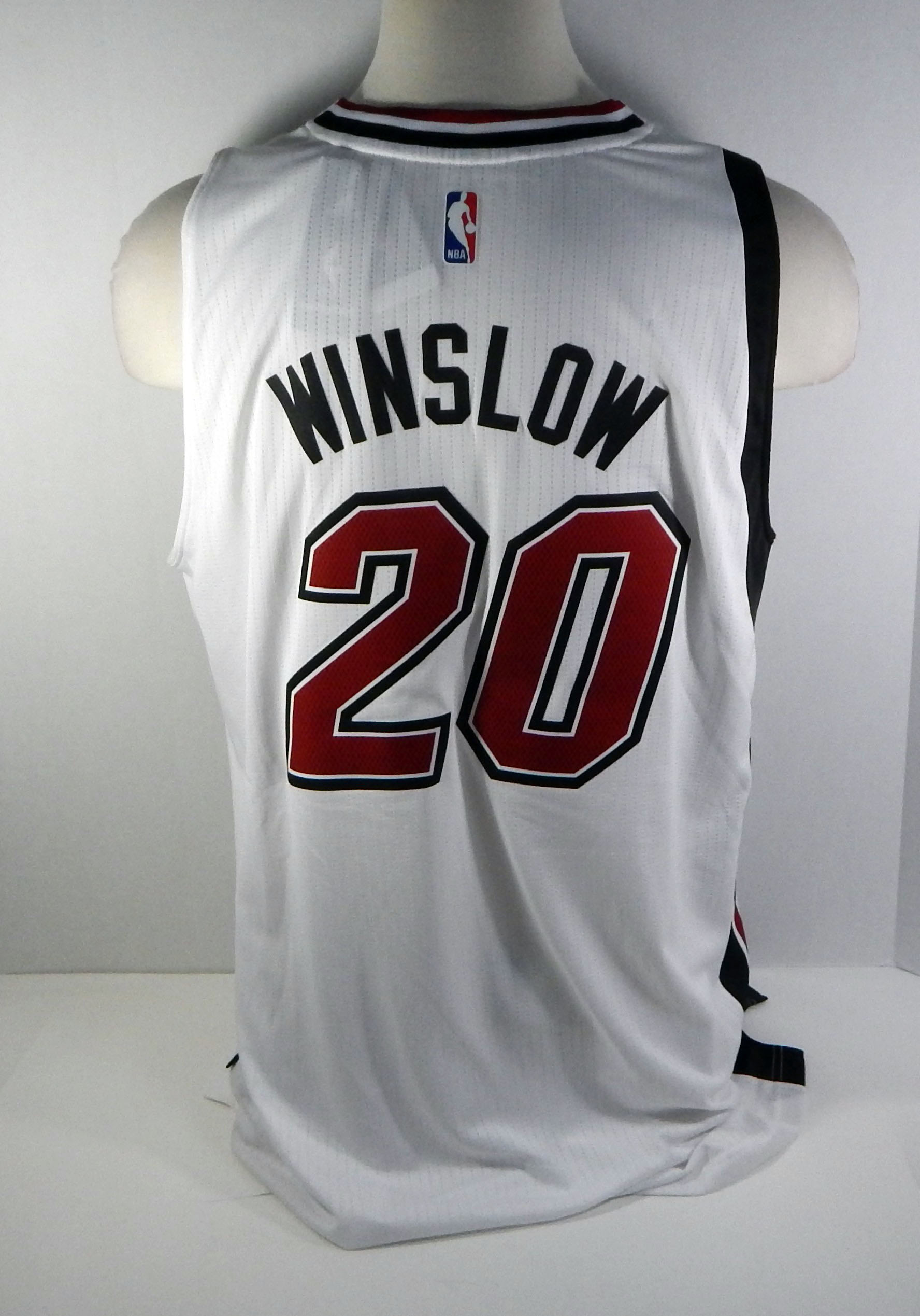 cheap for discount b141f eaab8 Miami Heat Justise Winslow #20 Replica White Legacy Swingman ...