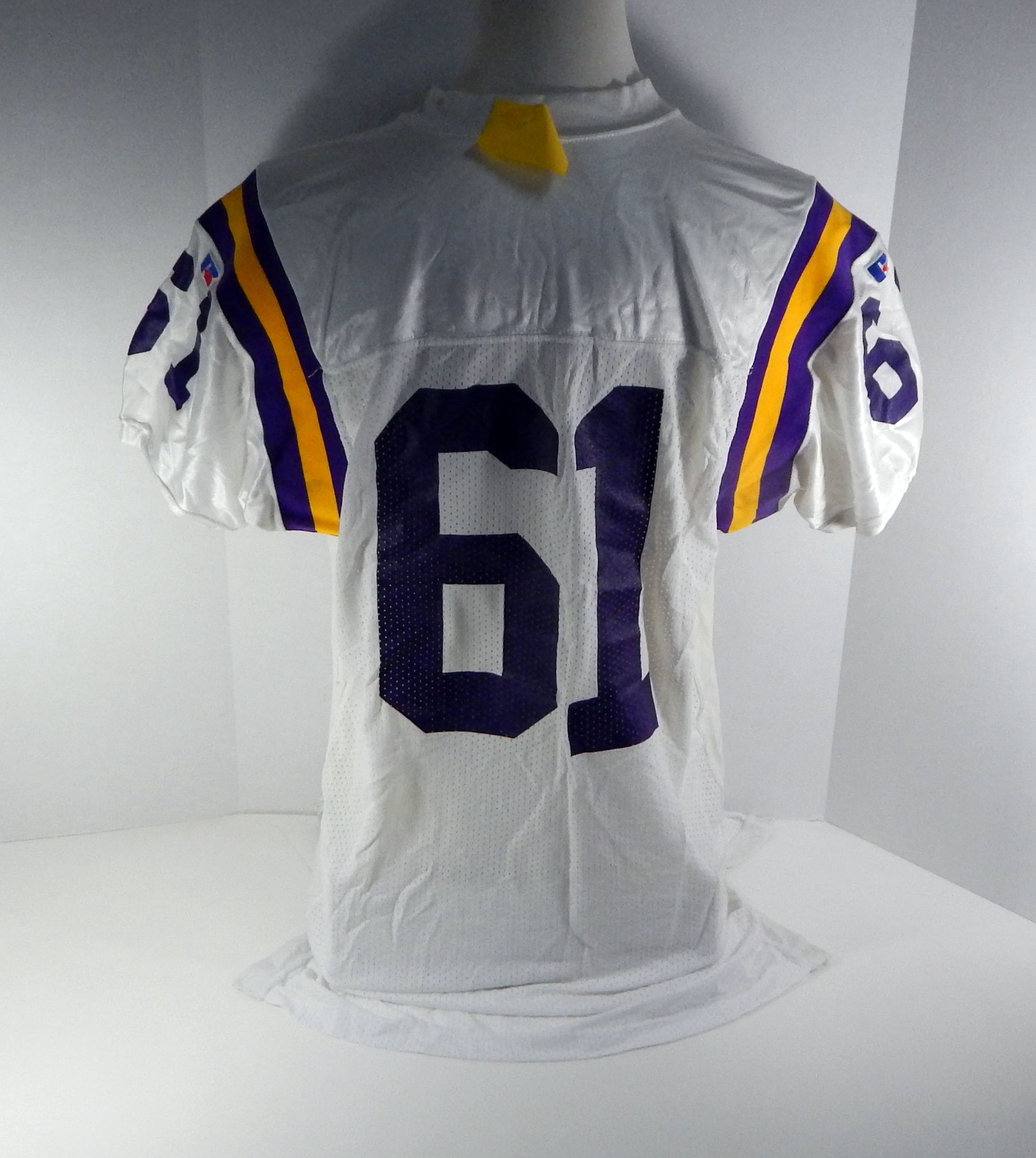 wholesale dealer e66da f331f Details about Minnesota Vikings #61 Game Issued White Jersey