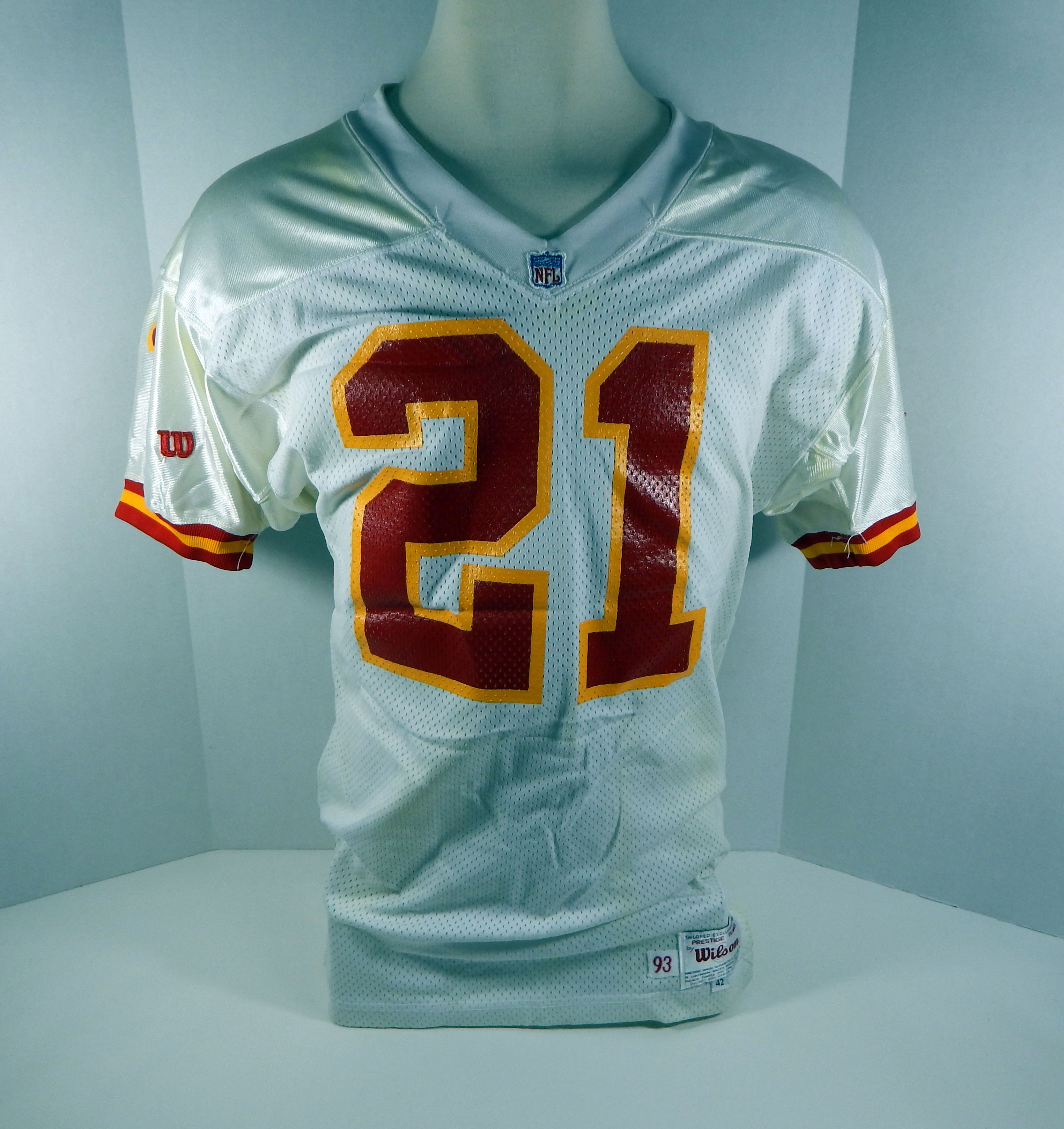 best service 58149 7e04d 1993 Kansas City Chiefs Garry Lewis #21 Game Used White ...