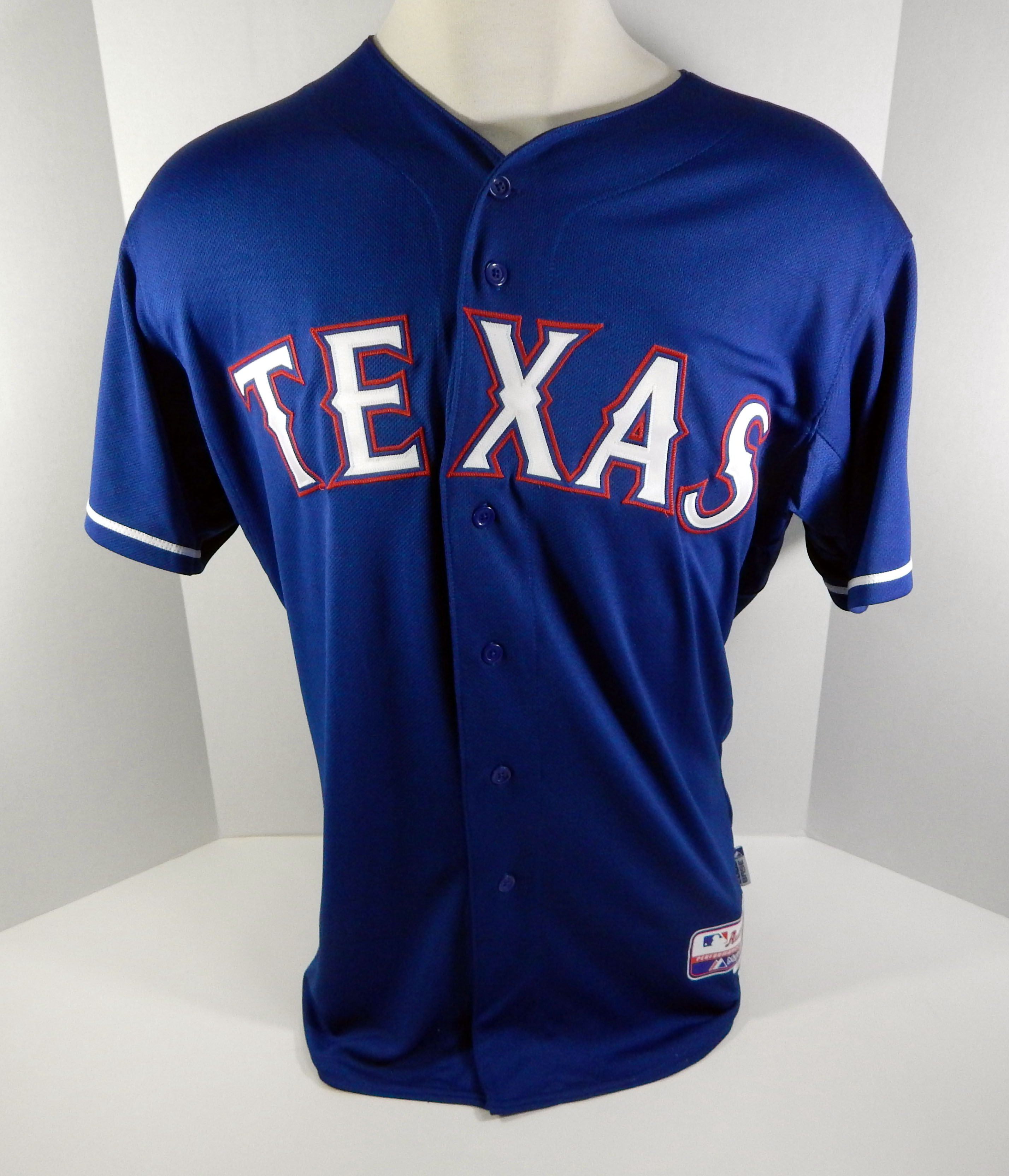 san francisco f9c05 485c6 Details about 2015 Texas Rangers Hanser Alberto # Game Issued Blue Jersey