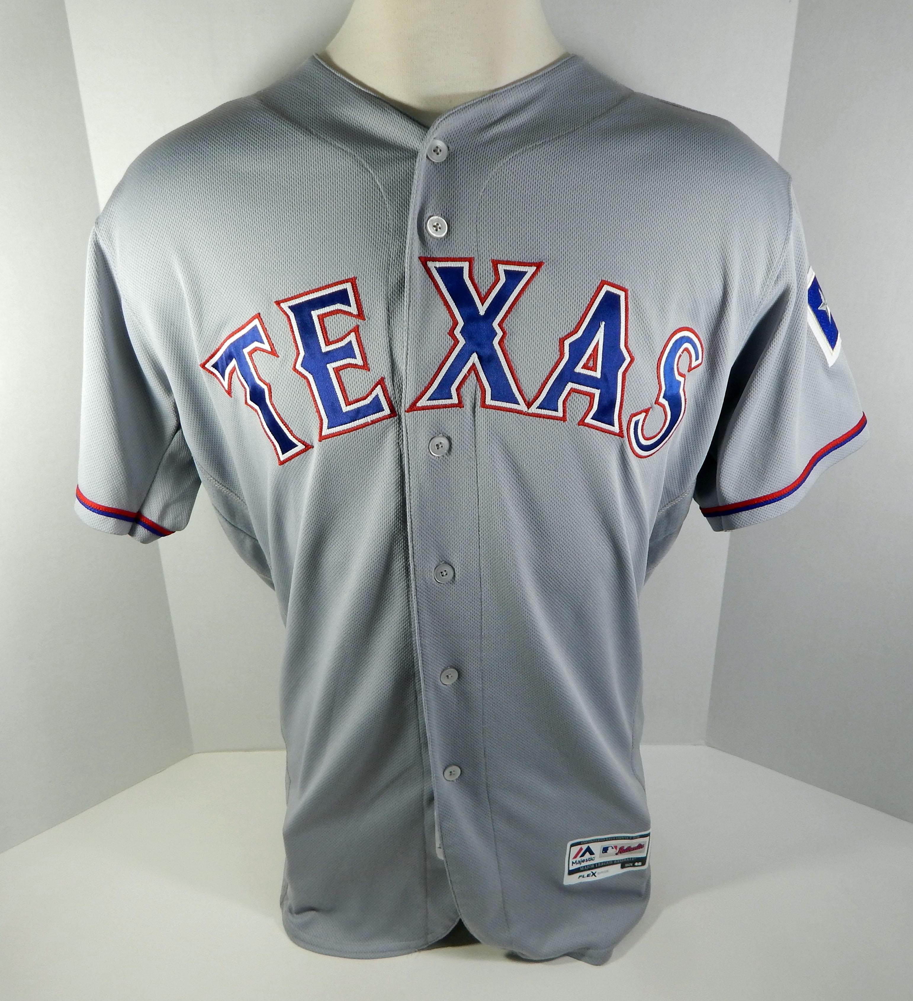 the latest 668ba c97b9 texas rangers grey jersey