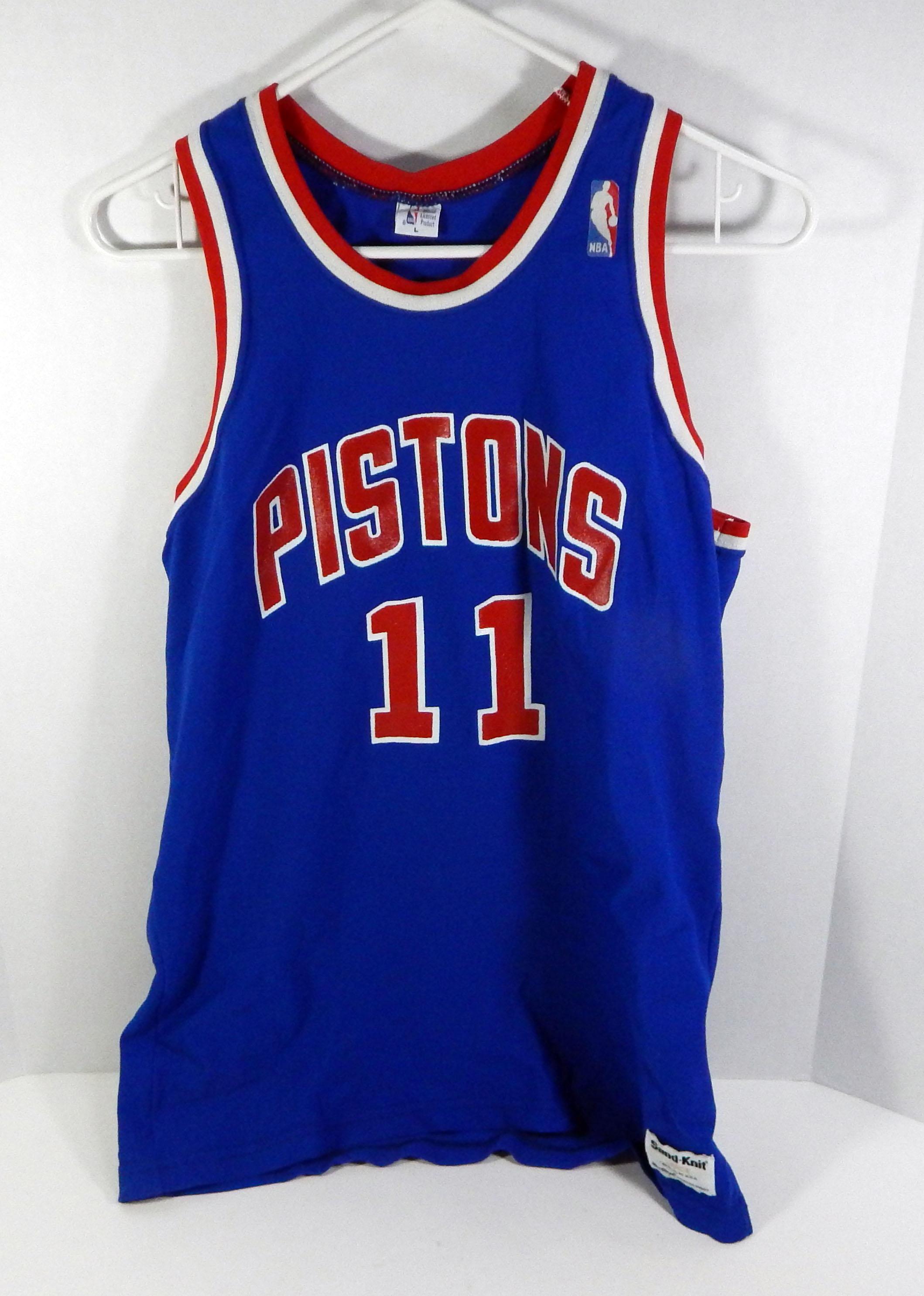 8d1cdf2d446 Image is loading Vintage-Detroit-Pistons-Isaiah-Thomas-11-Replica-Blue-