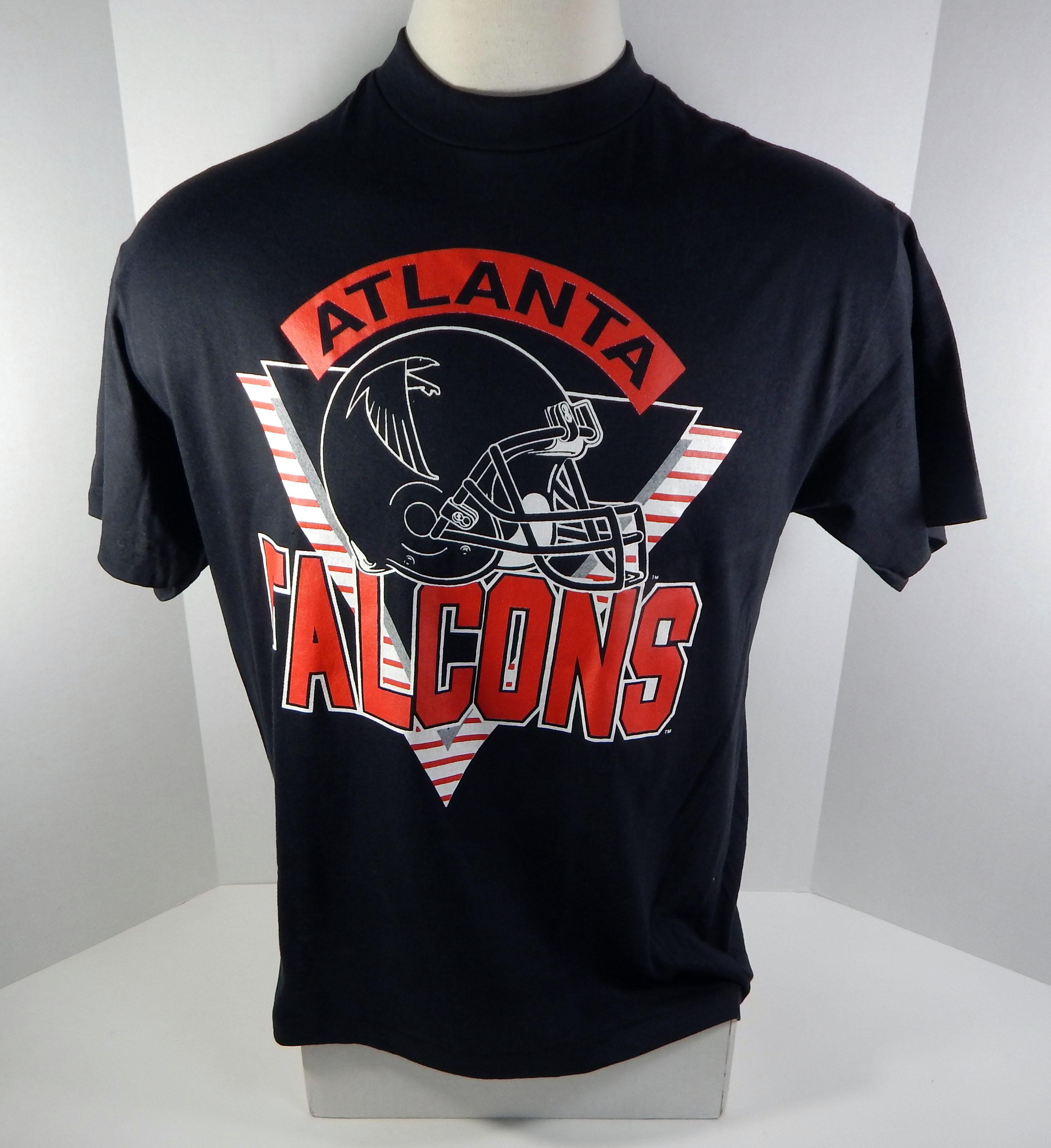 Image is loading Vintage-Atlanta-Falcons-Black-Trench-T-Shirt-Size- 4c983b592
