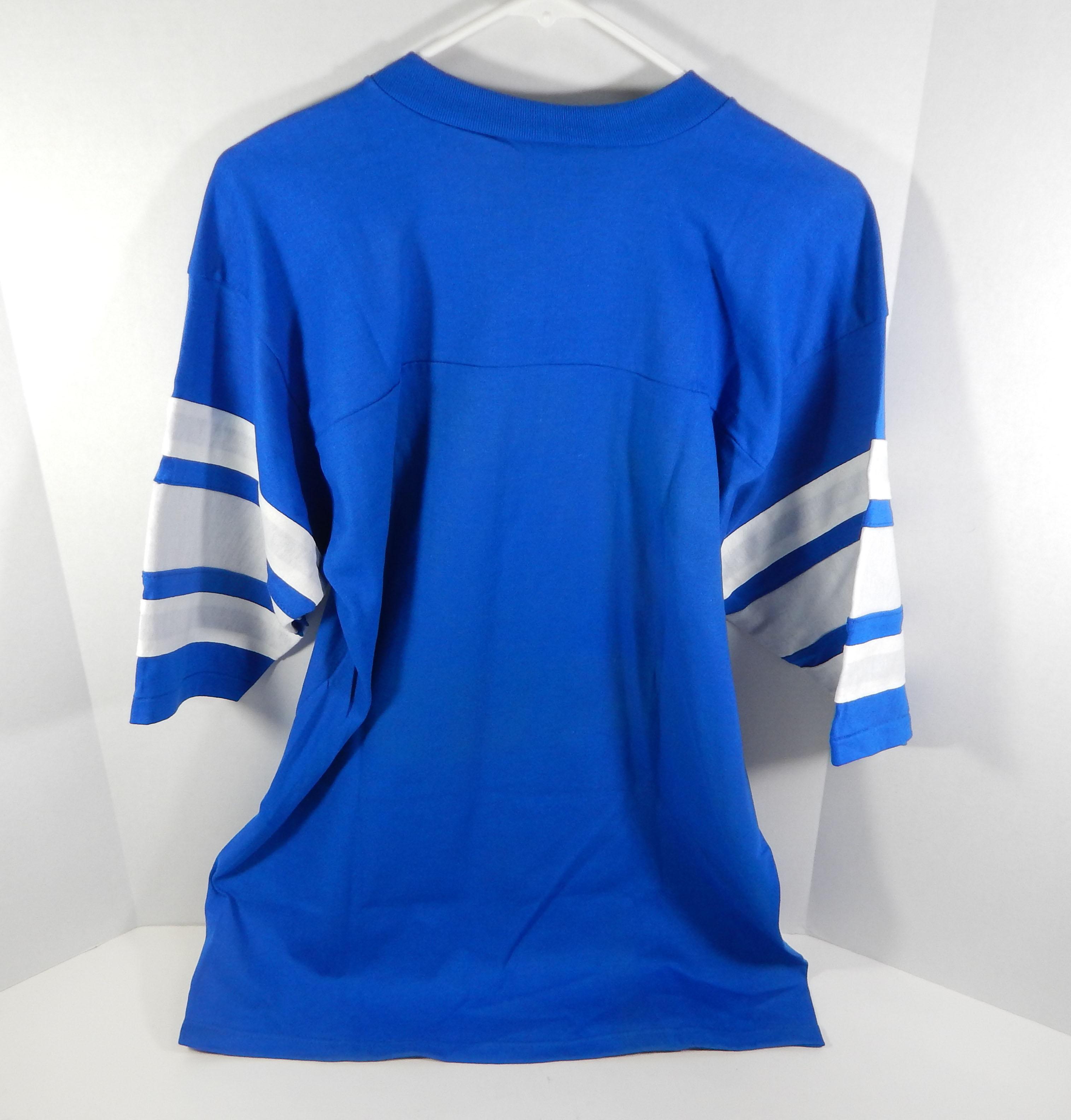 Vintage 1980s Indianapolis Colts Blue Logo 7 Jersey T Shirt Size L