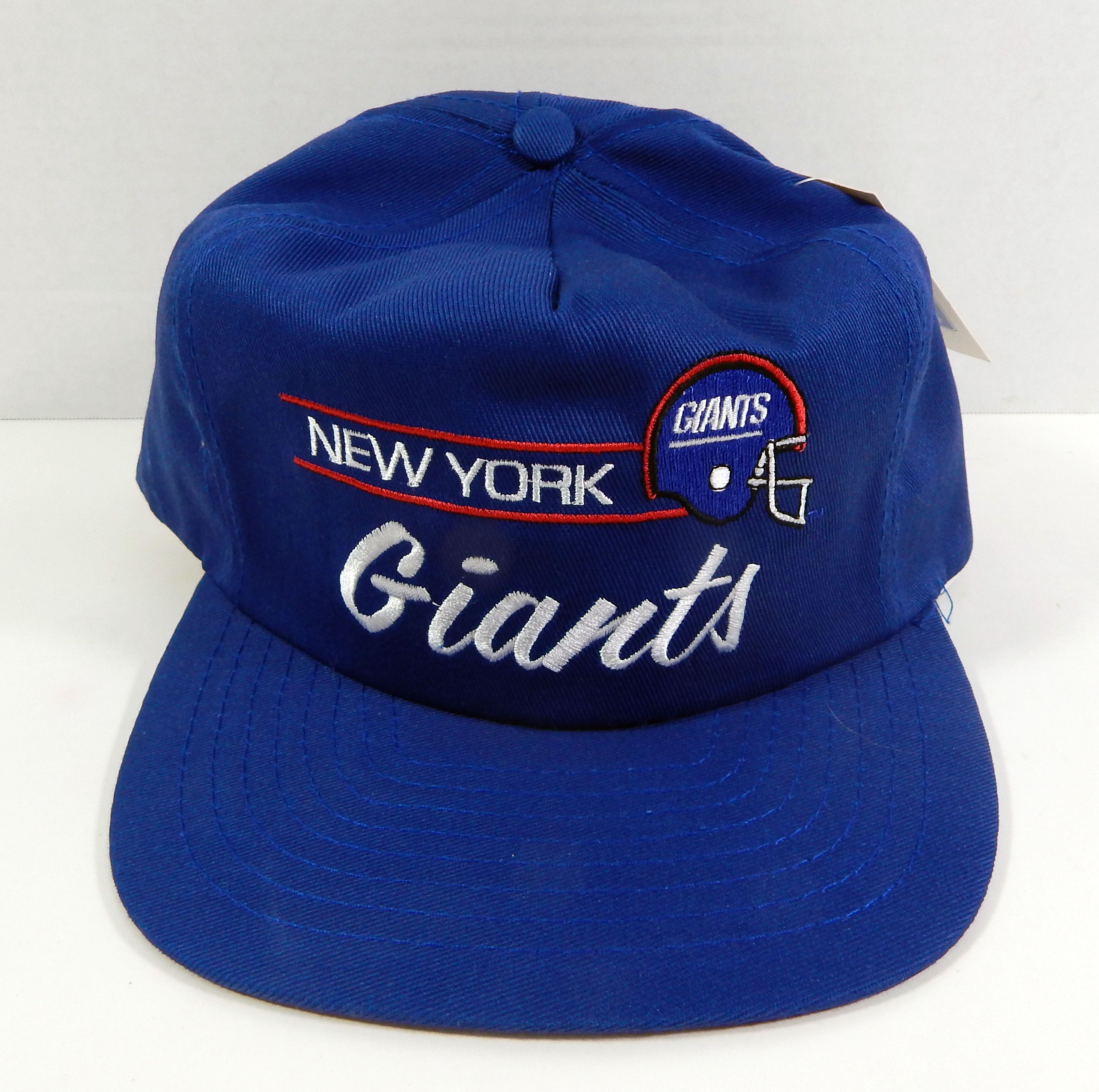 cd5d41279a6913 Details about Vintage New York Giants Blue Script Snapback Hat Annco NWT
