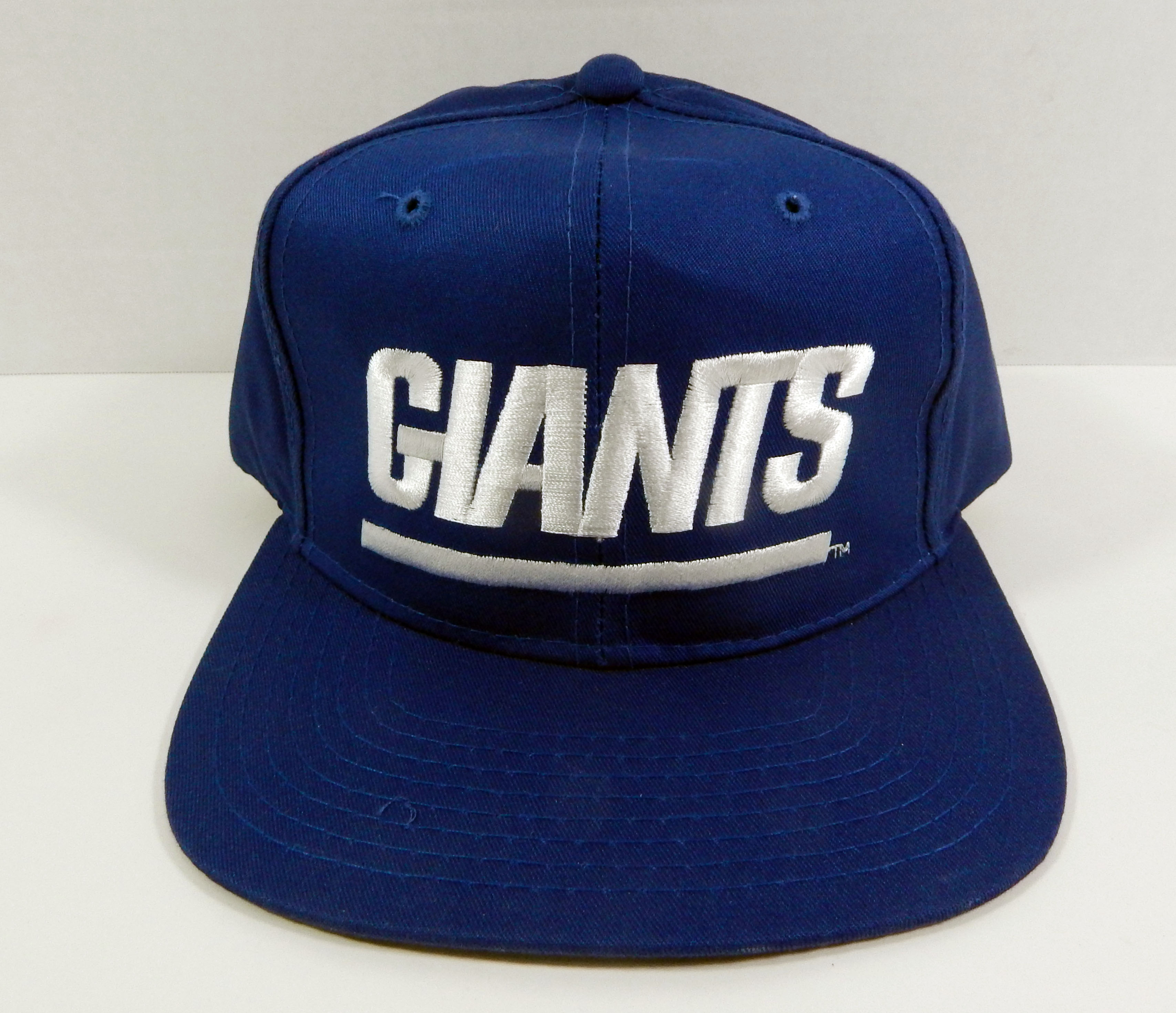 0b7913180da Details about Vintage New York Giants Blue White Script Snapback Hat New  Era NWT