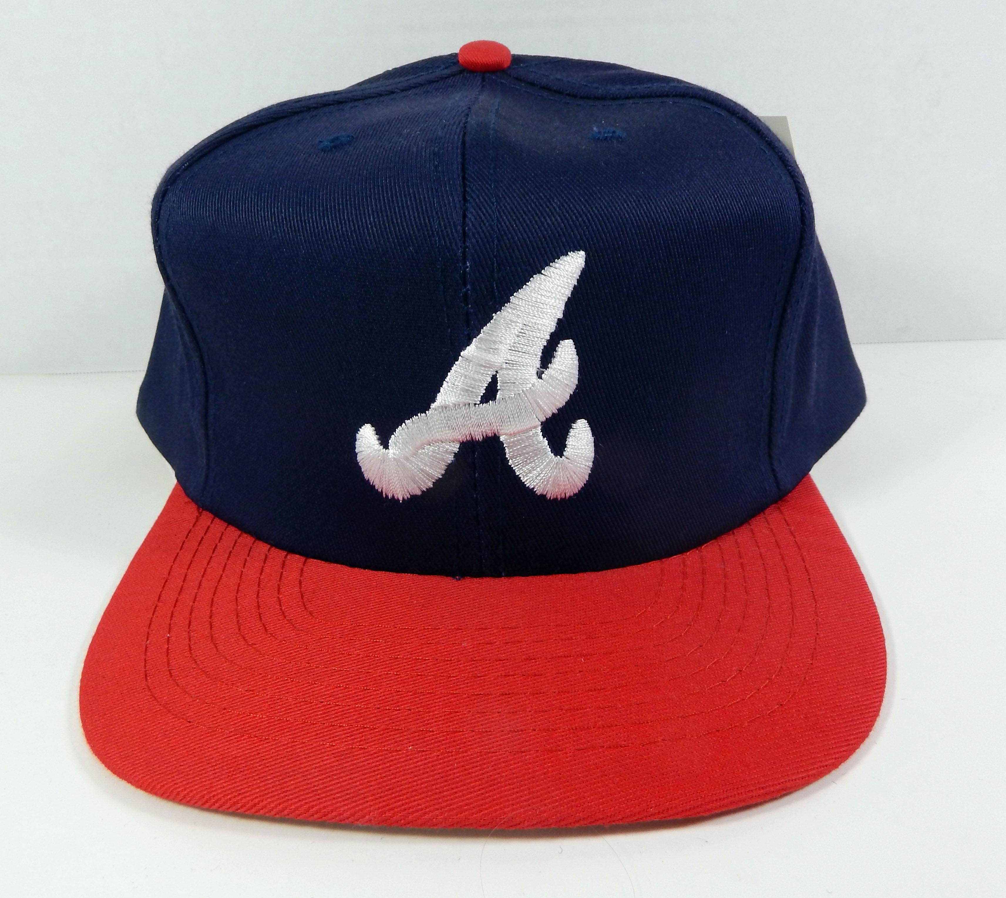 Details about Vintage Atlanta Braves Navy Red Logo Snapback Hat Annco NWT e4e4398122af