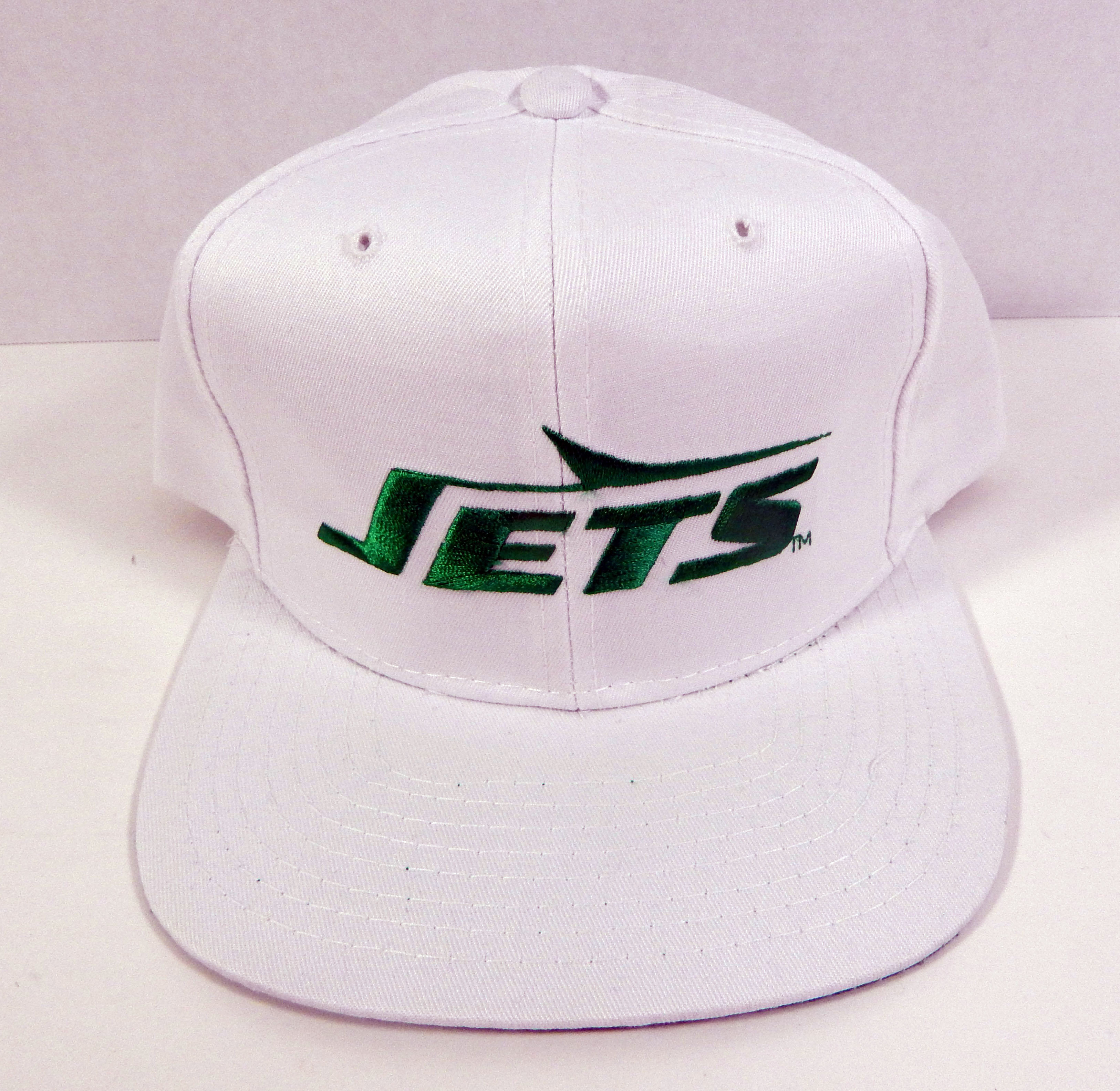 e330eacca0f Details about Vintage New York Jets White Script Snapback Hat New Era NWT