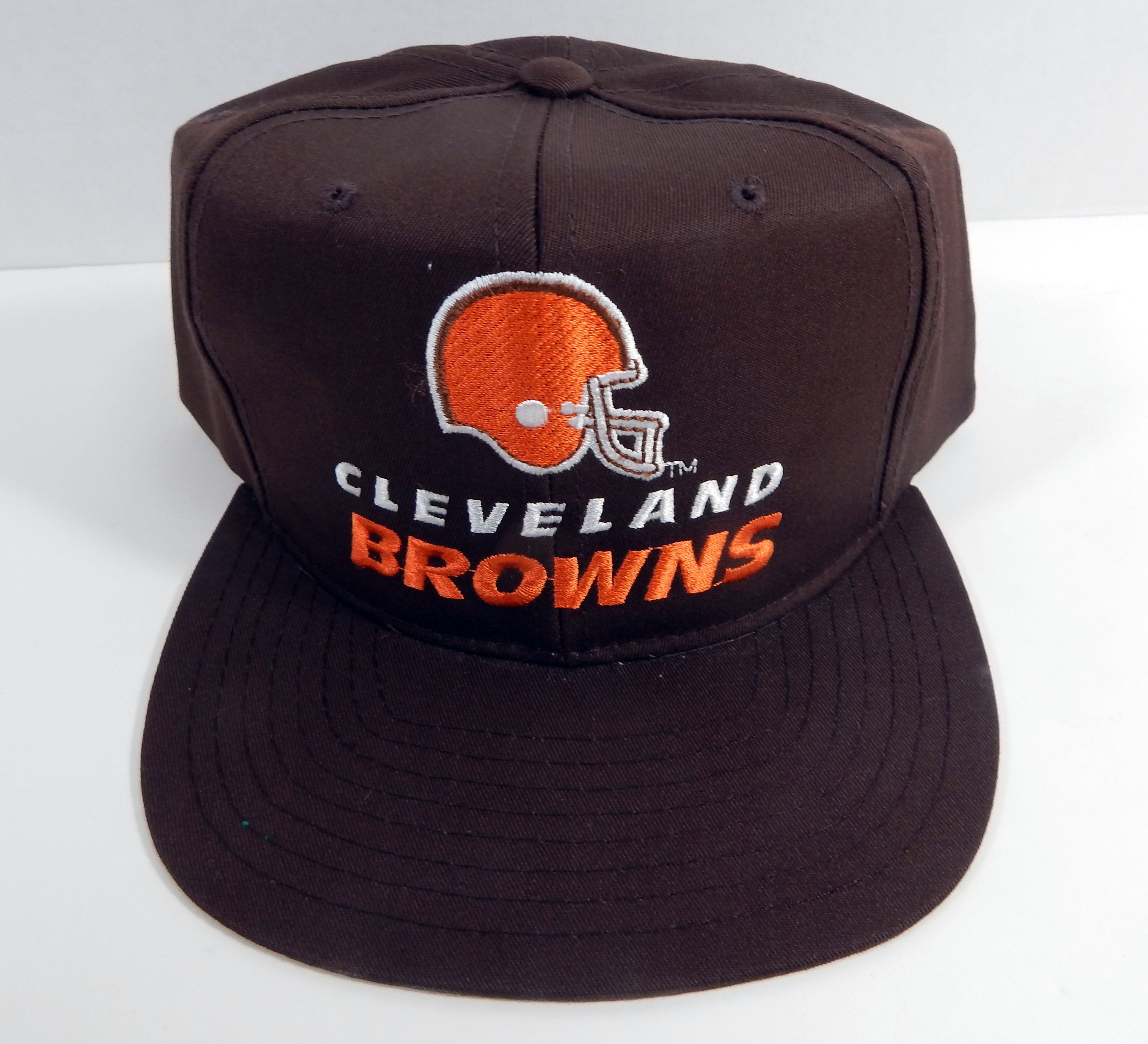 e05b9be441e Details about Vintage Cleveland Browns Browns Script Logo Snapback Hat New  Era NWT
