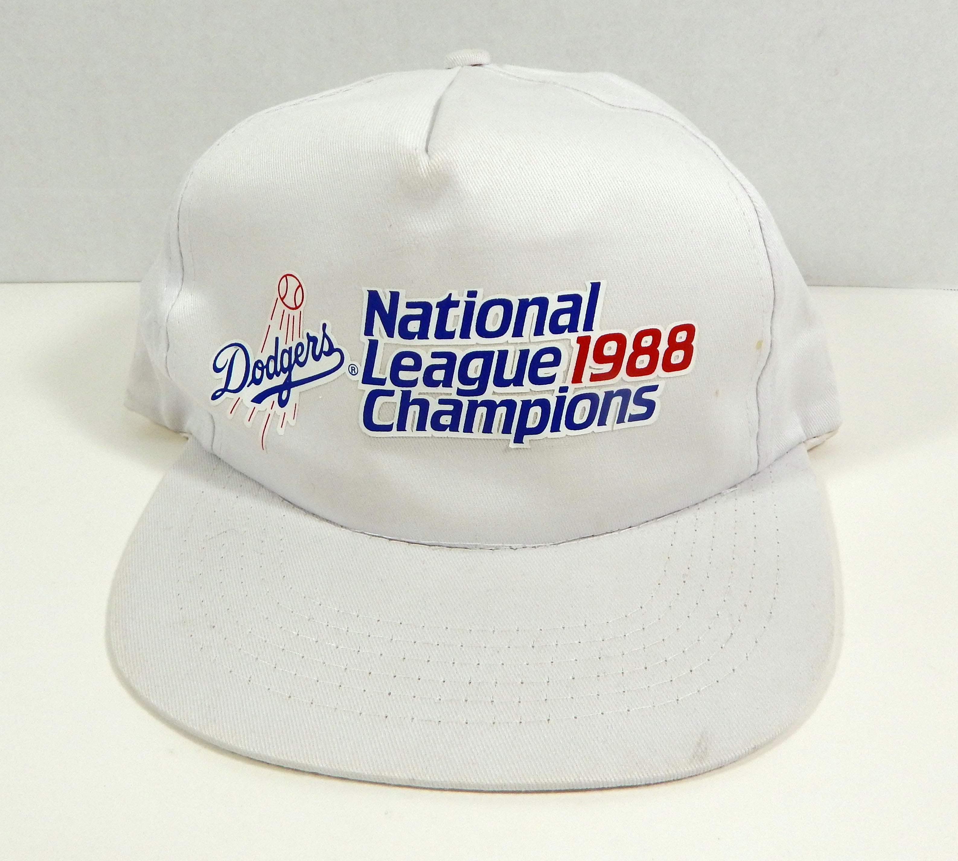 b934f46ee Details about Vintage 1988 Los Angeles Dodgers National League Champions  White Snapback Hat