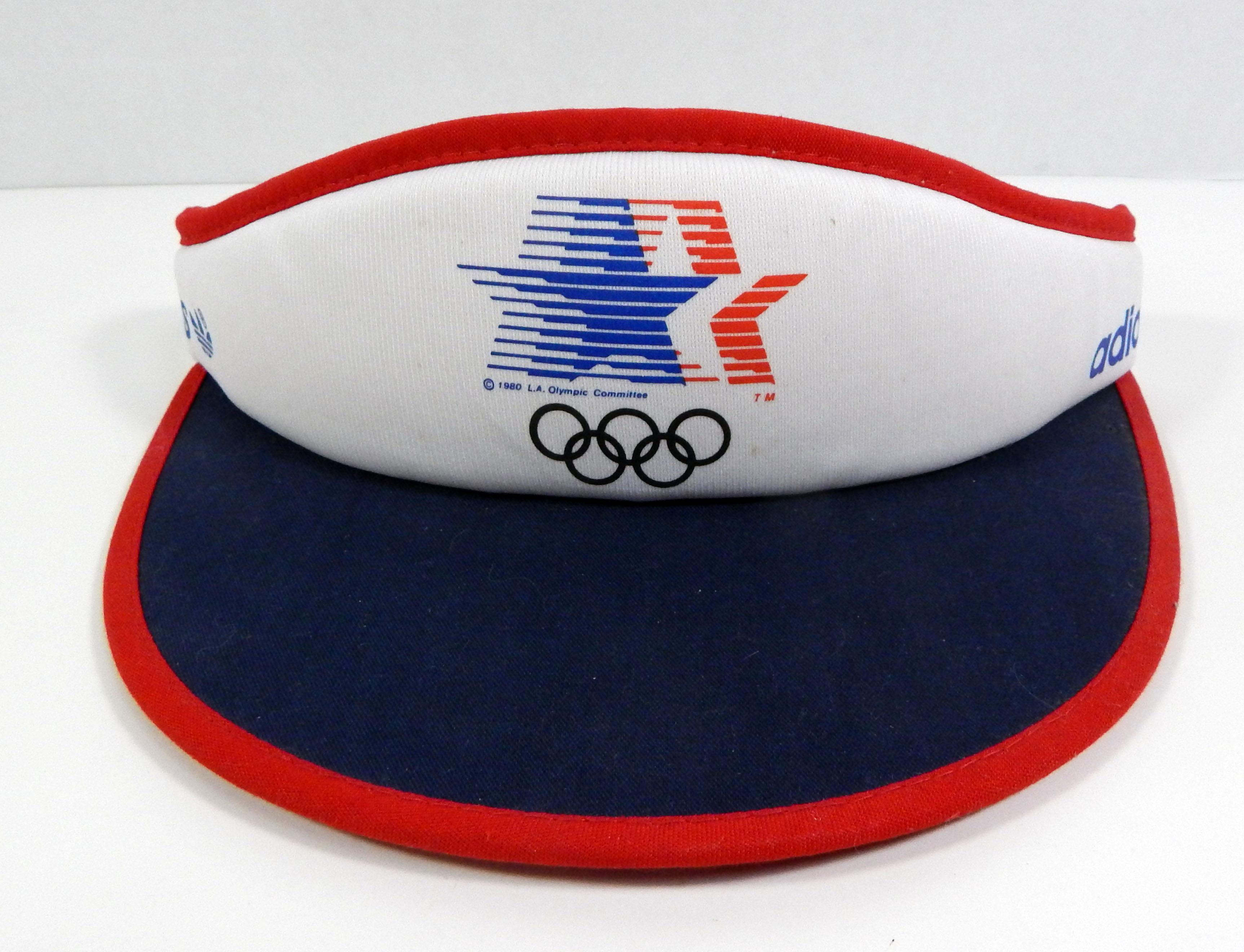 ac308e95d0f Vintage los angeles olympics adidas white visor ebay JPG 3450x2640 1984  olympic hats