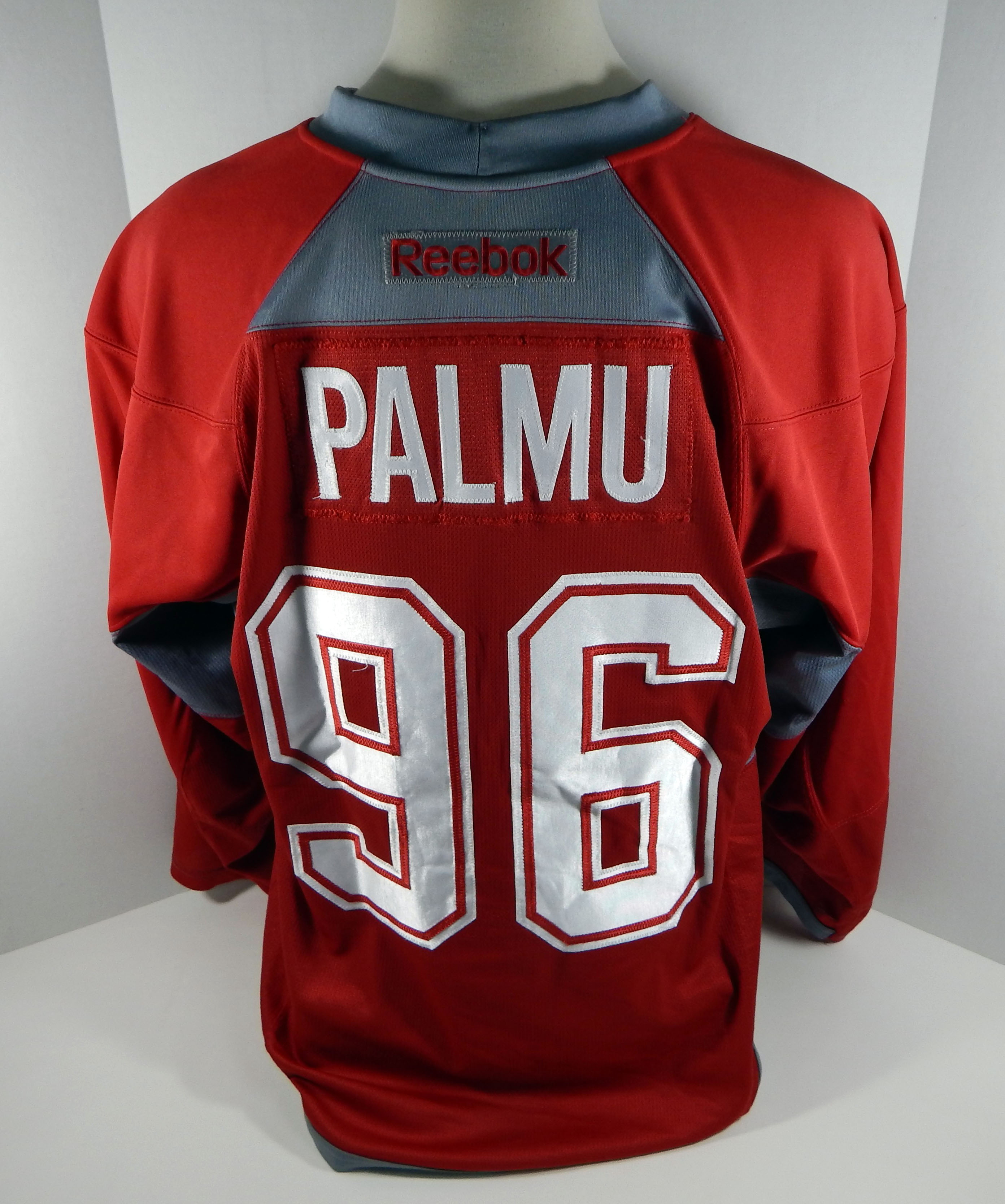 bf3ecadc9 Montreal Canadiens Petrus Palmu  96 Game Used Red Practice Jersey