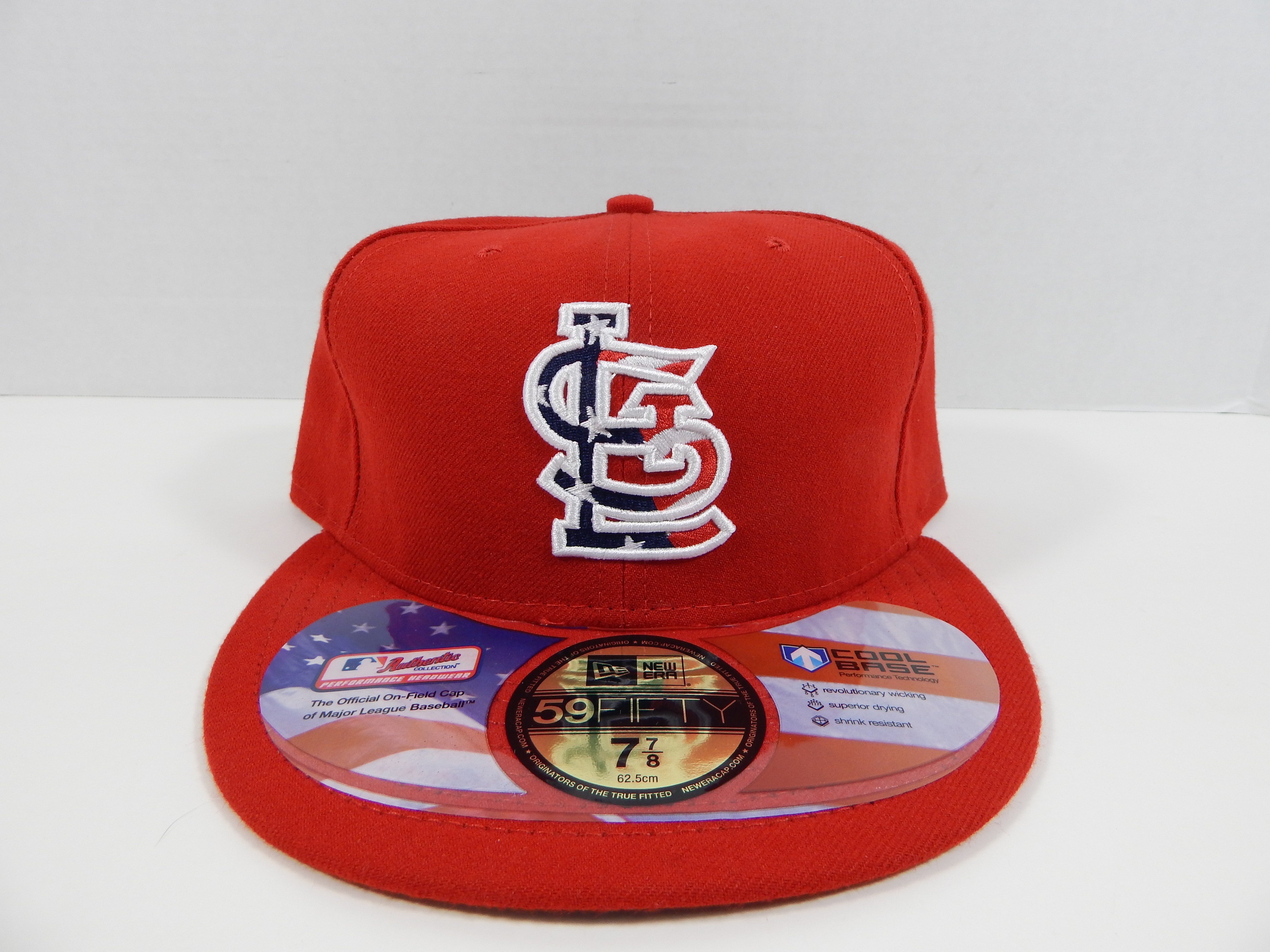 2b1e06de Details about St. Louis Cardinals New Era Red 4th July Stars and Stripes  59FIFTY Fitted Hat